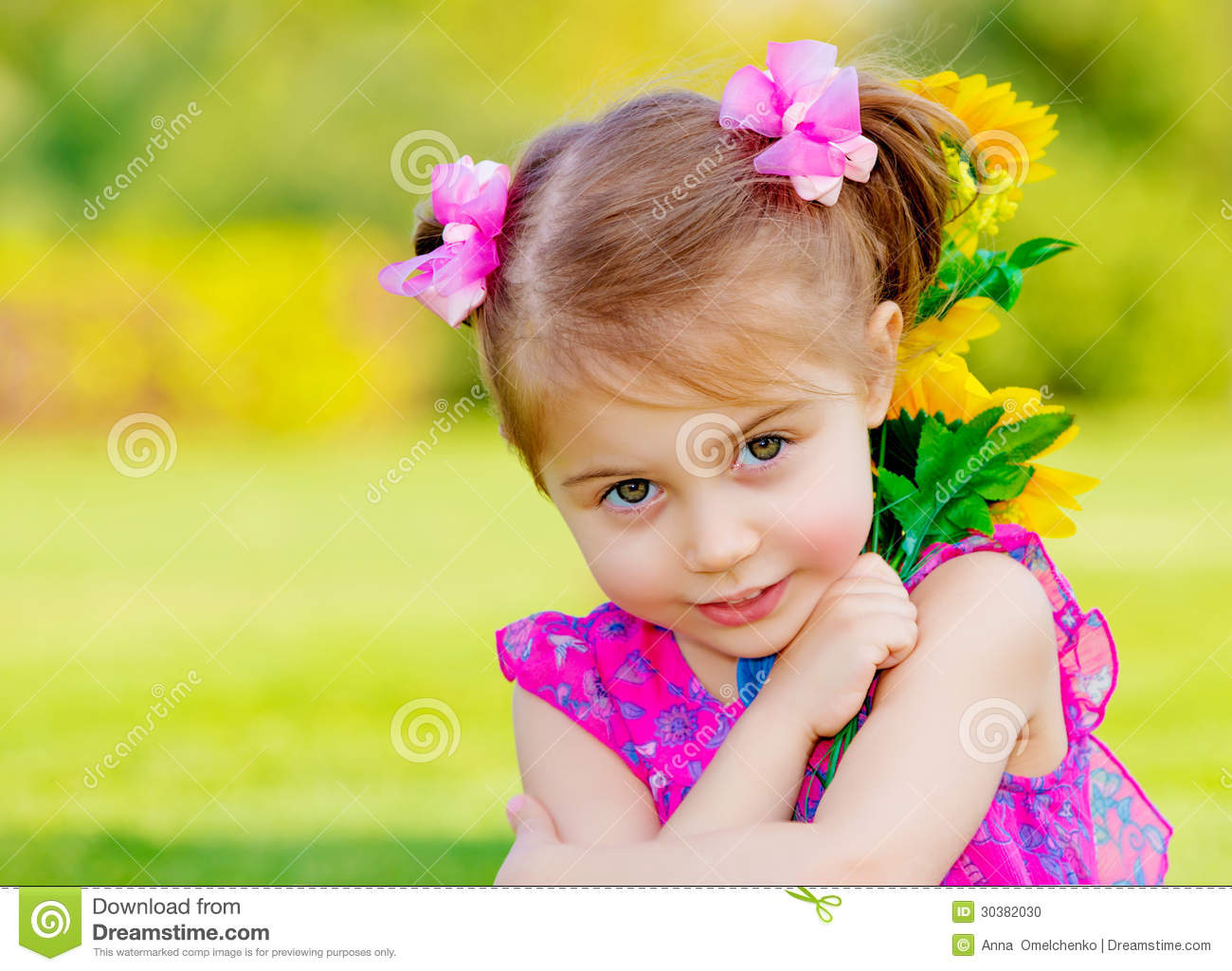 happy baby girl stock photo. image of garden, holding - 30382030