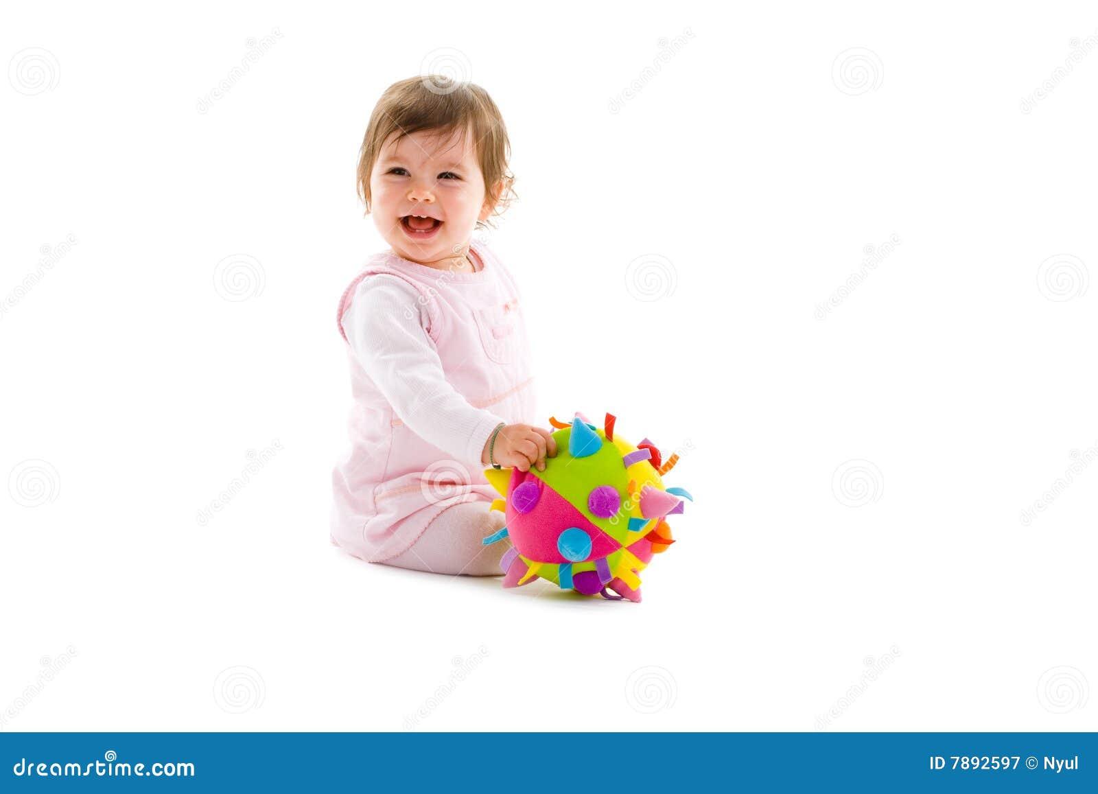Happy baby isolated