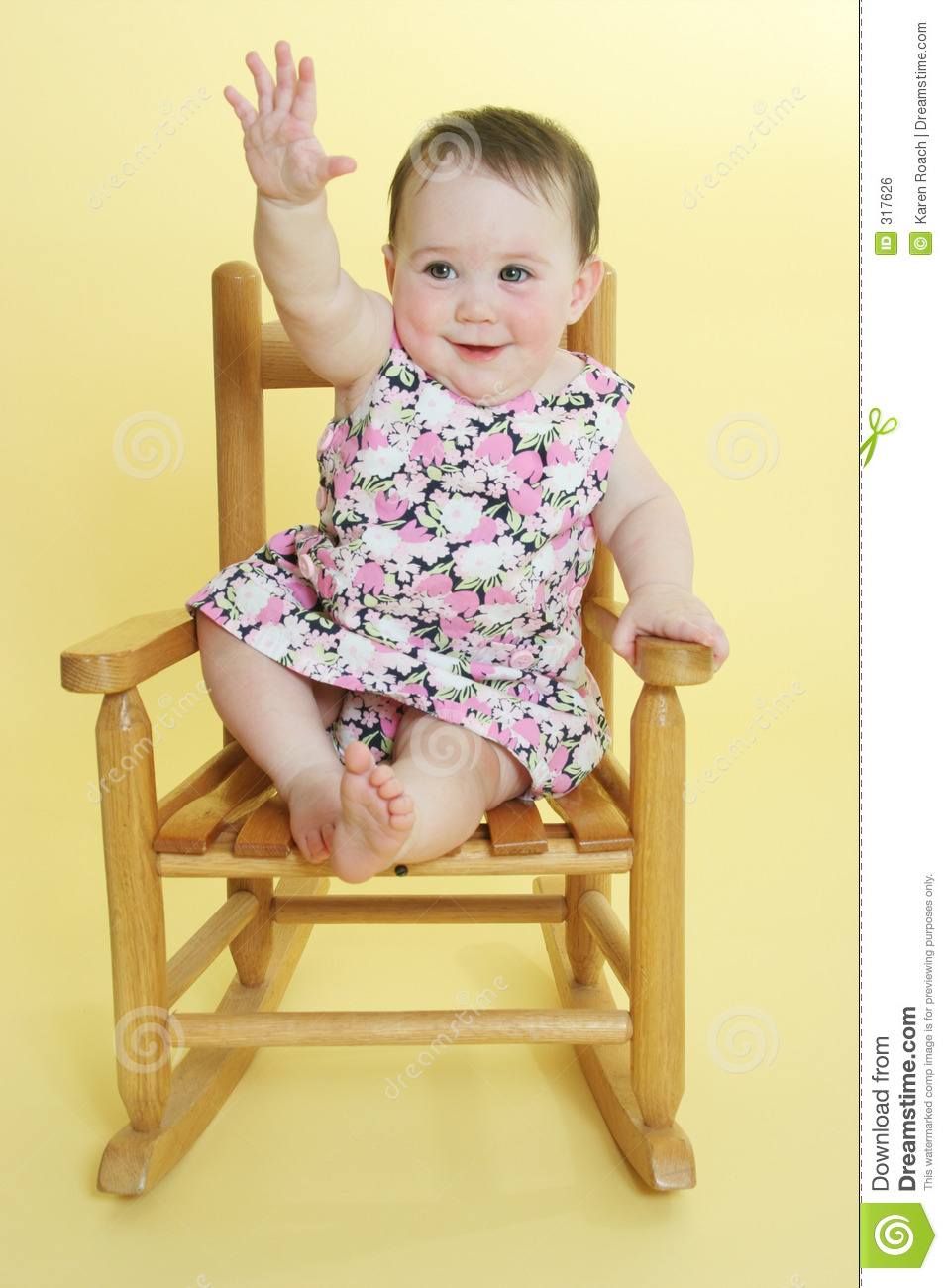 Happy Baby Raising Hand Royalty Free Stock Image - Image ...