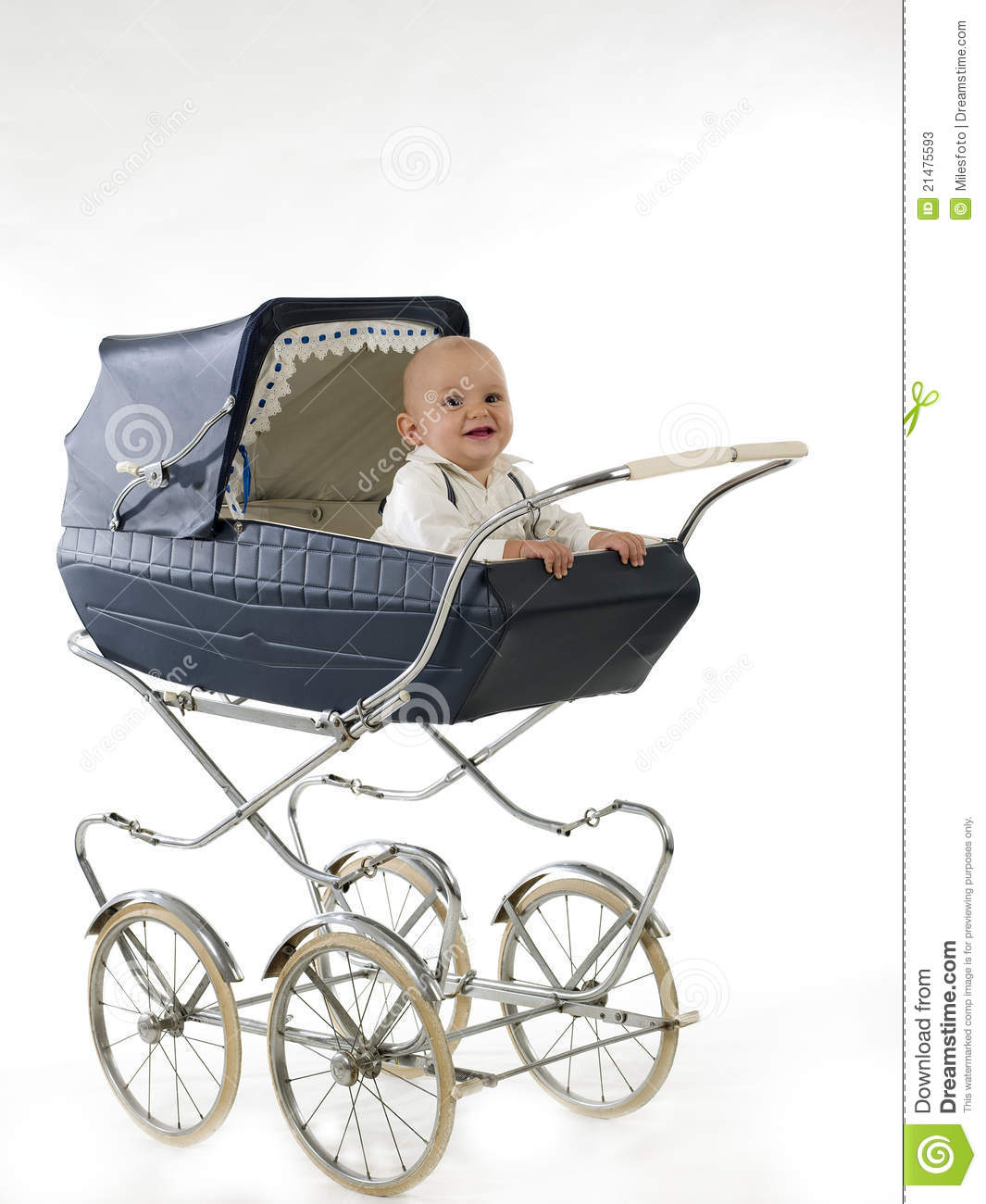 Happy Baby In The Stroller Stock Photos - Image: 21475593