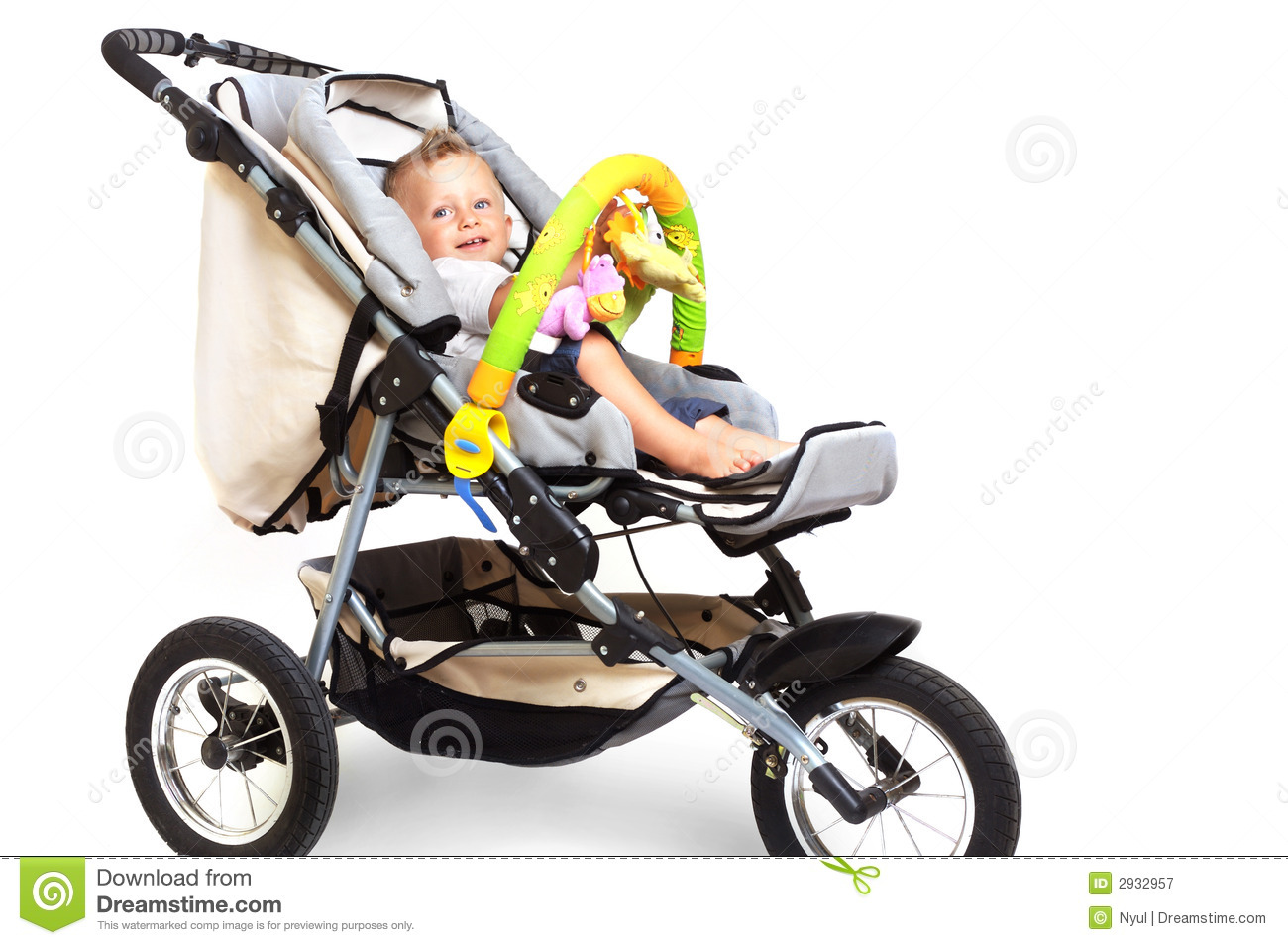Mom With Baby And Stroller Stock Photos - Image: 11106183