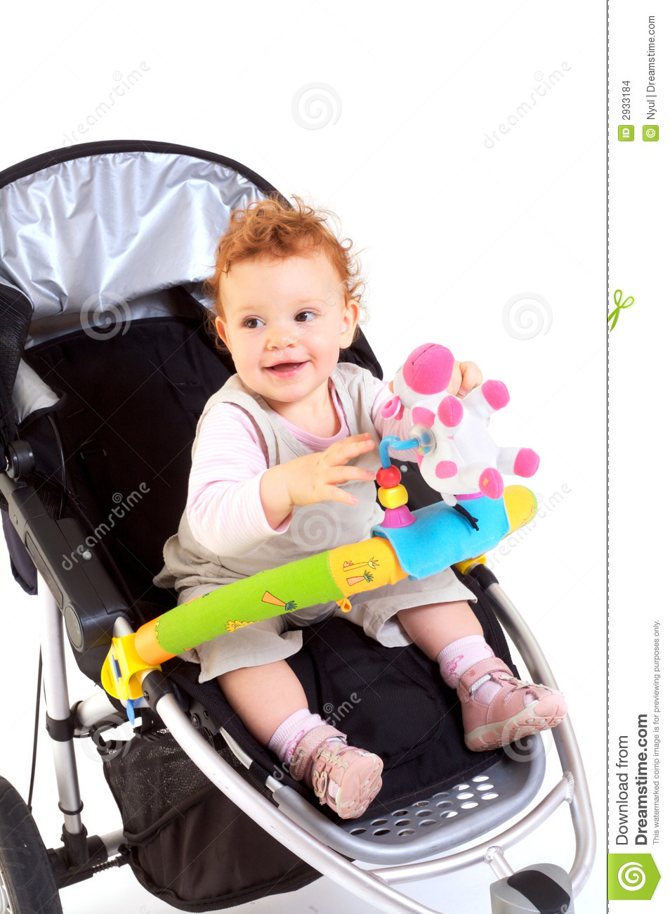 Happy Baby In Stroller Stock Images - Image: 2933184