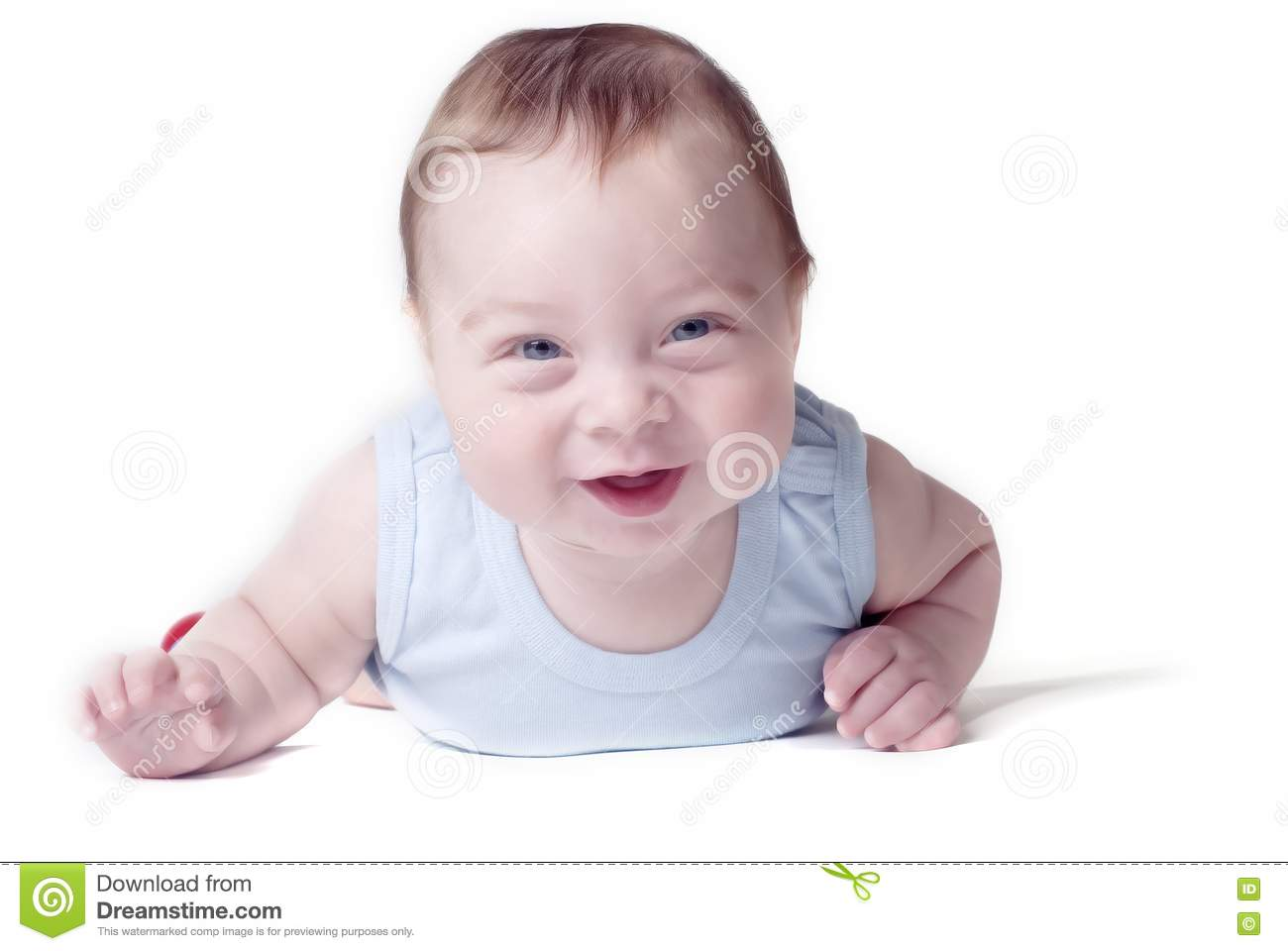 Happy Baby On A White Background Royalty Free Stock Images