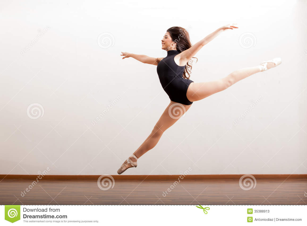 Happy Ballet Dancer Jumping Stock Image - Image: 35388913