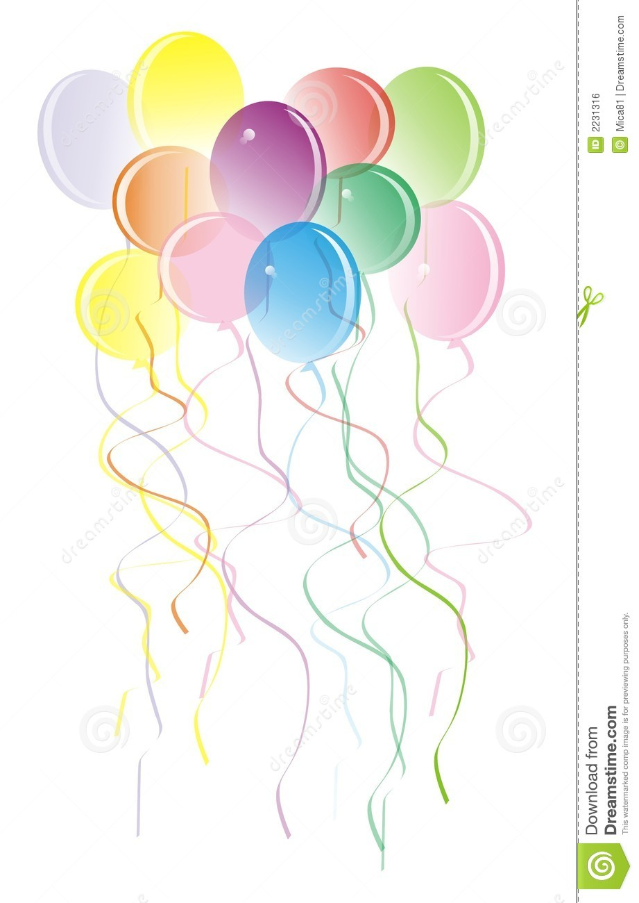 Happy Baloons Royalty Free Stock Image - Image: 2231316