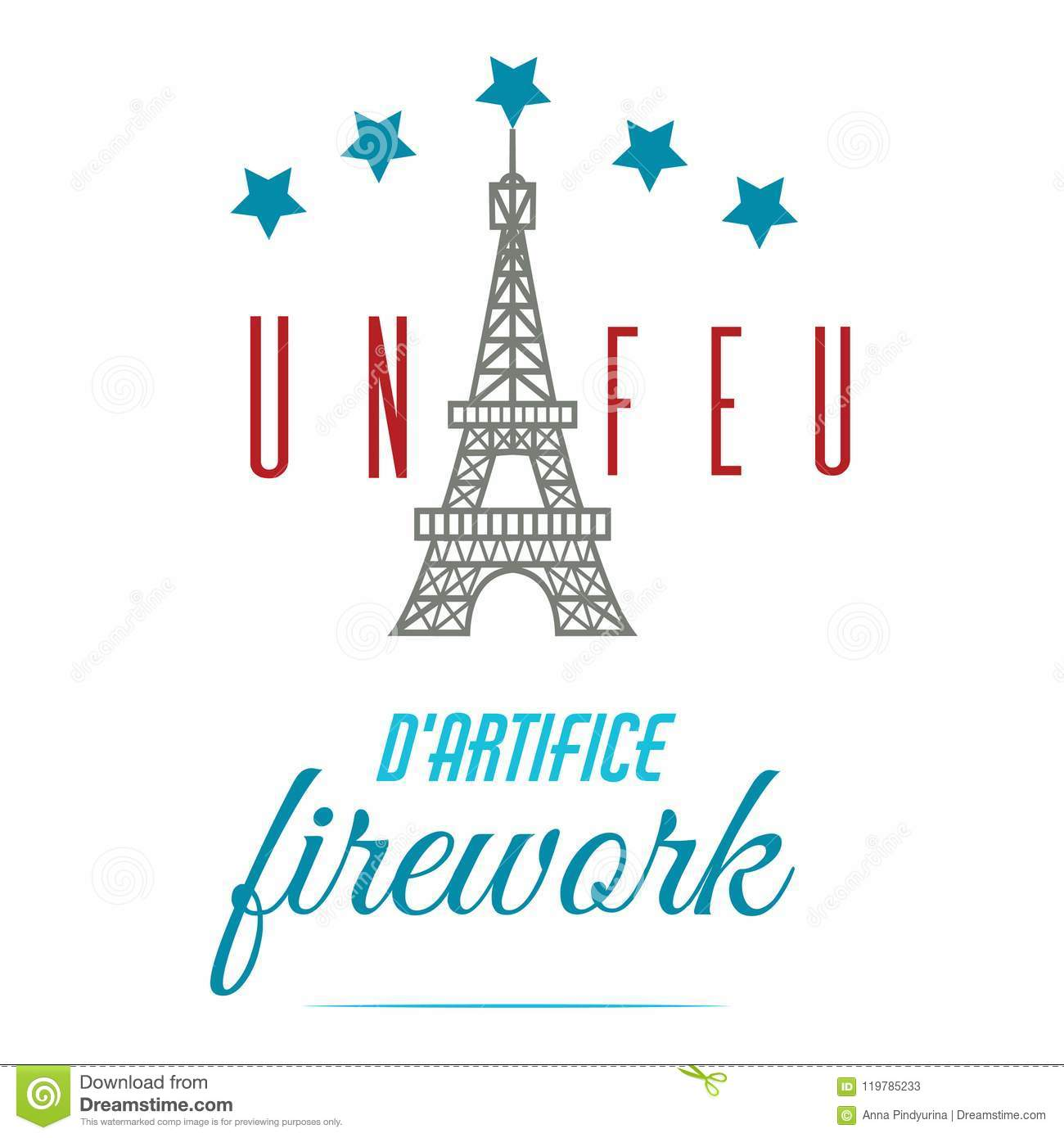 Happy Bastille Day Greetings Card Design 14th July Independence Day