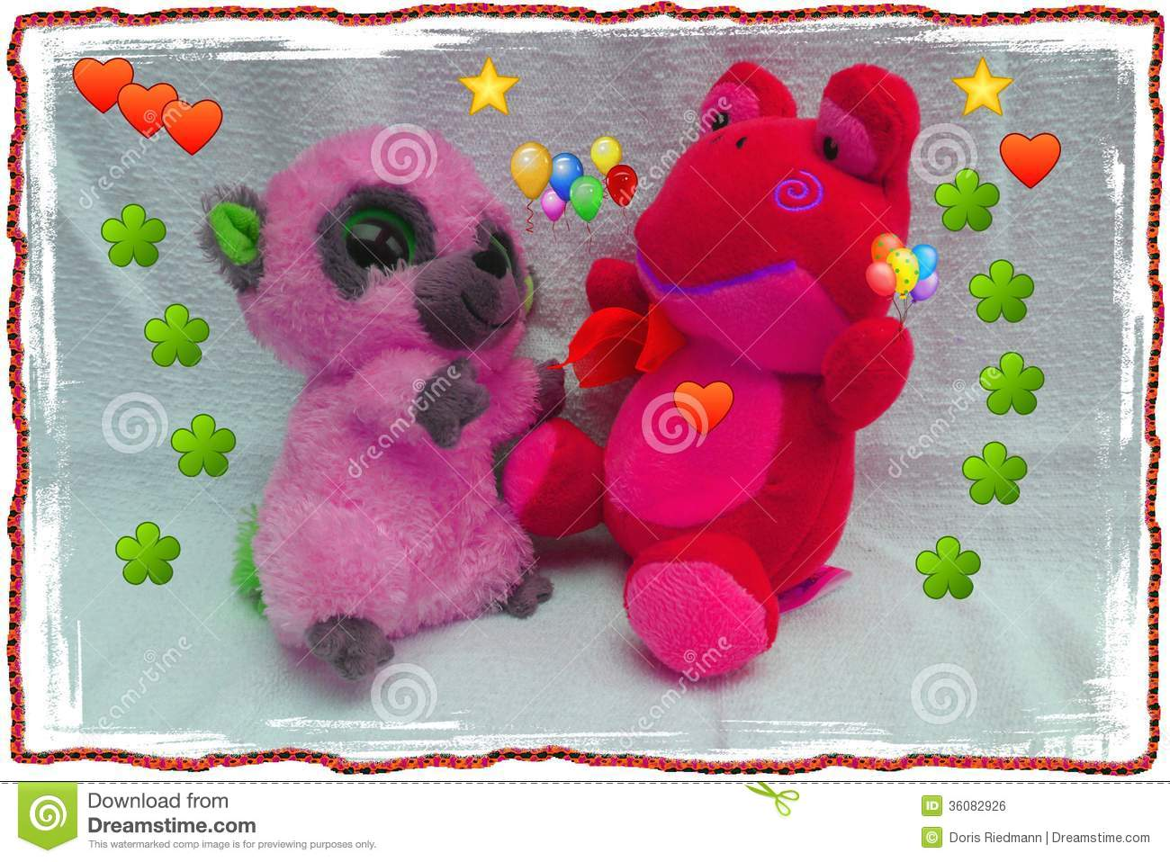 Happy Bear Friendship And Happy Birthday And Children Pets Love And