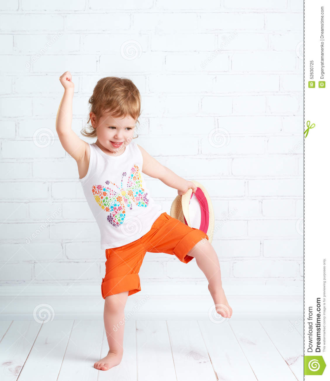 Happy Beautiful Baby Girl Dancer Dancing Hip Hop Dance -3171