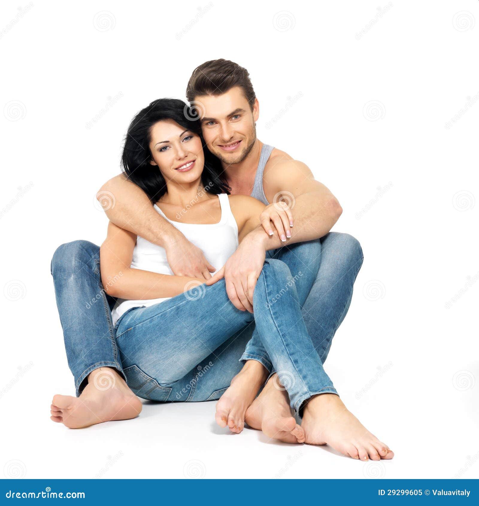 Happy beautiful couple in love