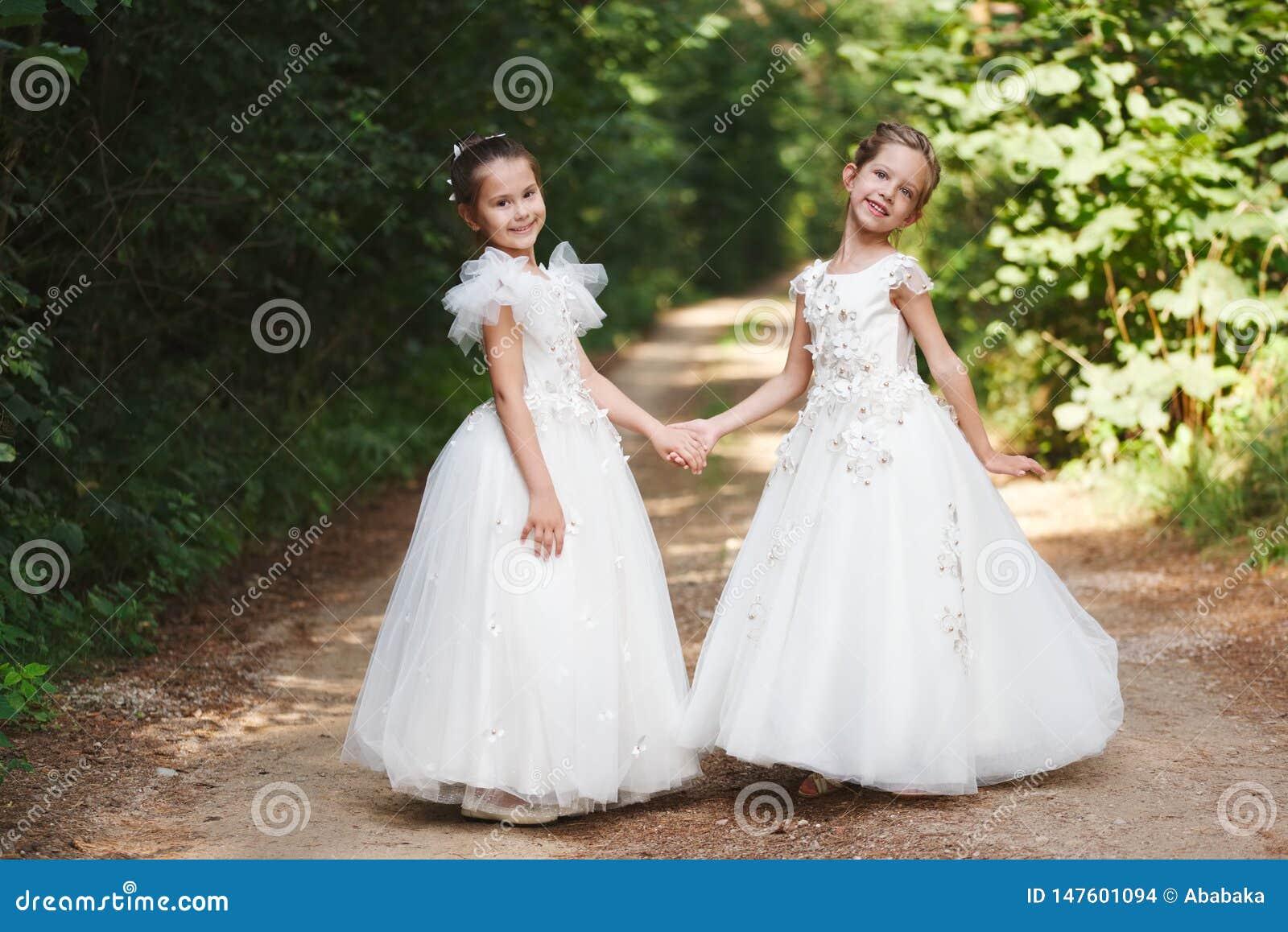 Happy Beautiful Girls With White Wedding Dresses Stock Photo Image Of Girls Forest 147601094,Wedding Dress Makers Sydney
