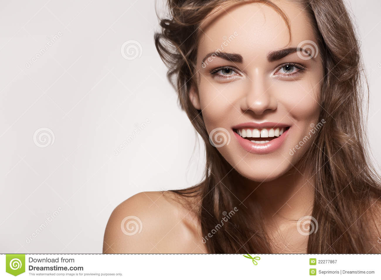 Happy beautiful woman. Cute smile with white teeth
