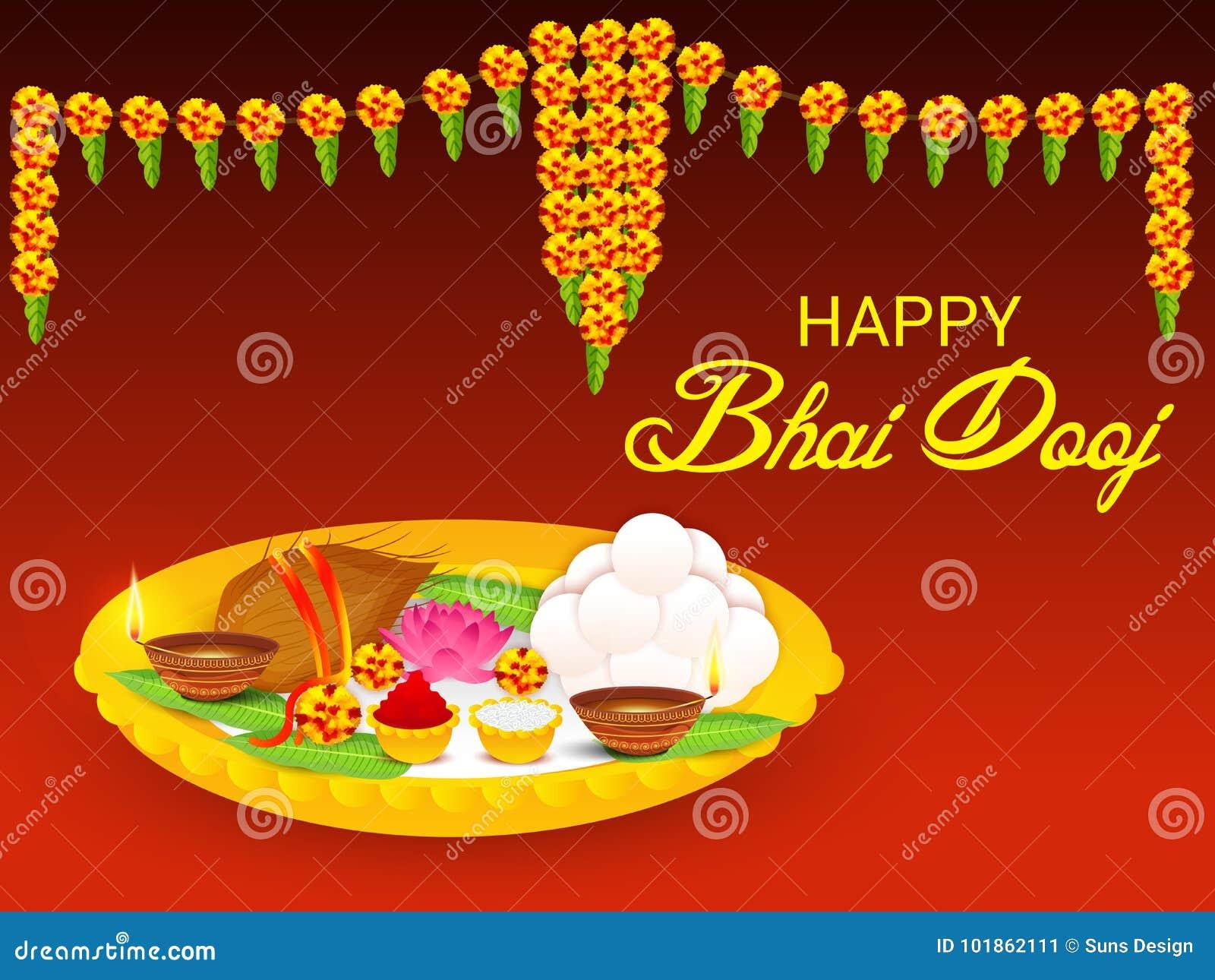 Happy Bhai Dooj Stock Illustration Illustration Of Frame 101862111