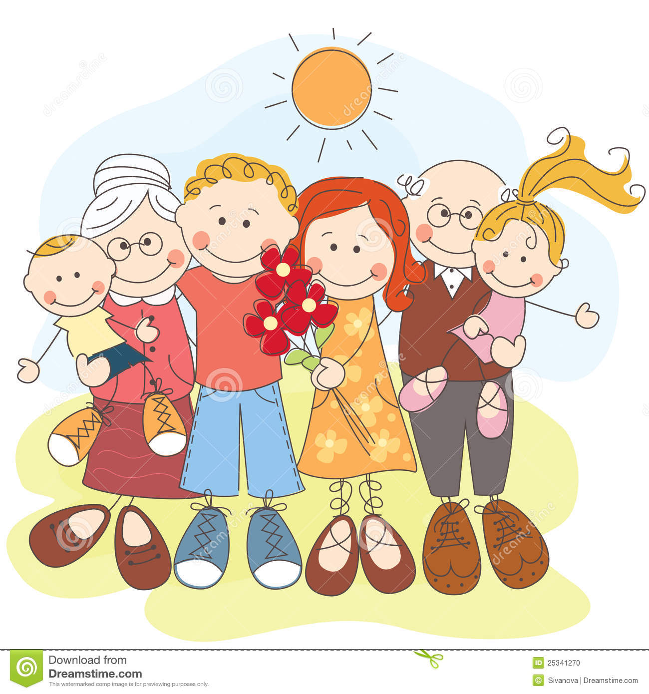Happy Big Family Together Stock Photo - Image: 25341270