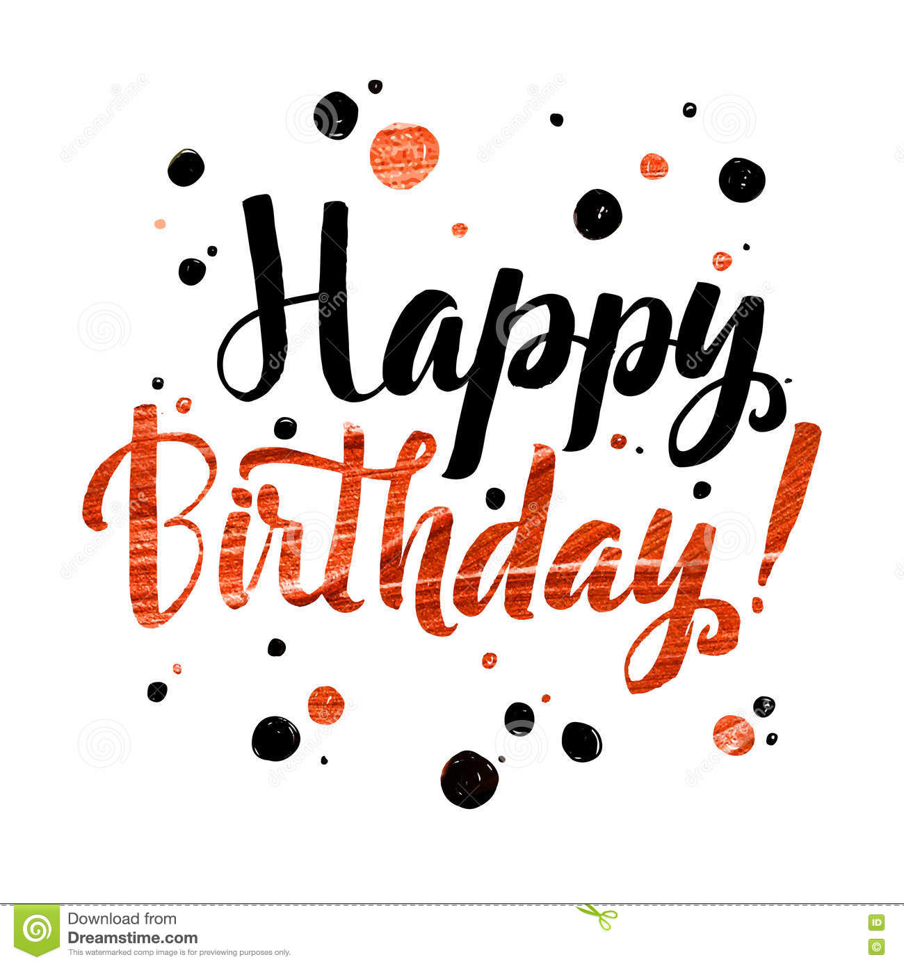 photo relating to Happy Birthday Lettering Printables named Joyful Birhtday Gold Foil Calligraphic Concept. Grunge Poster