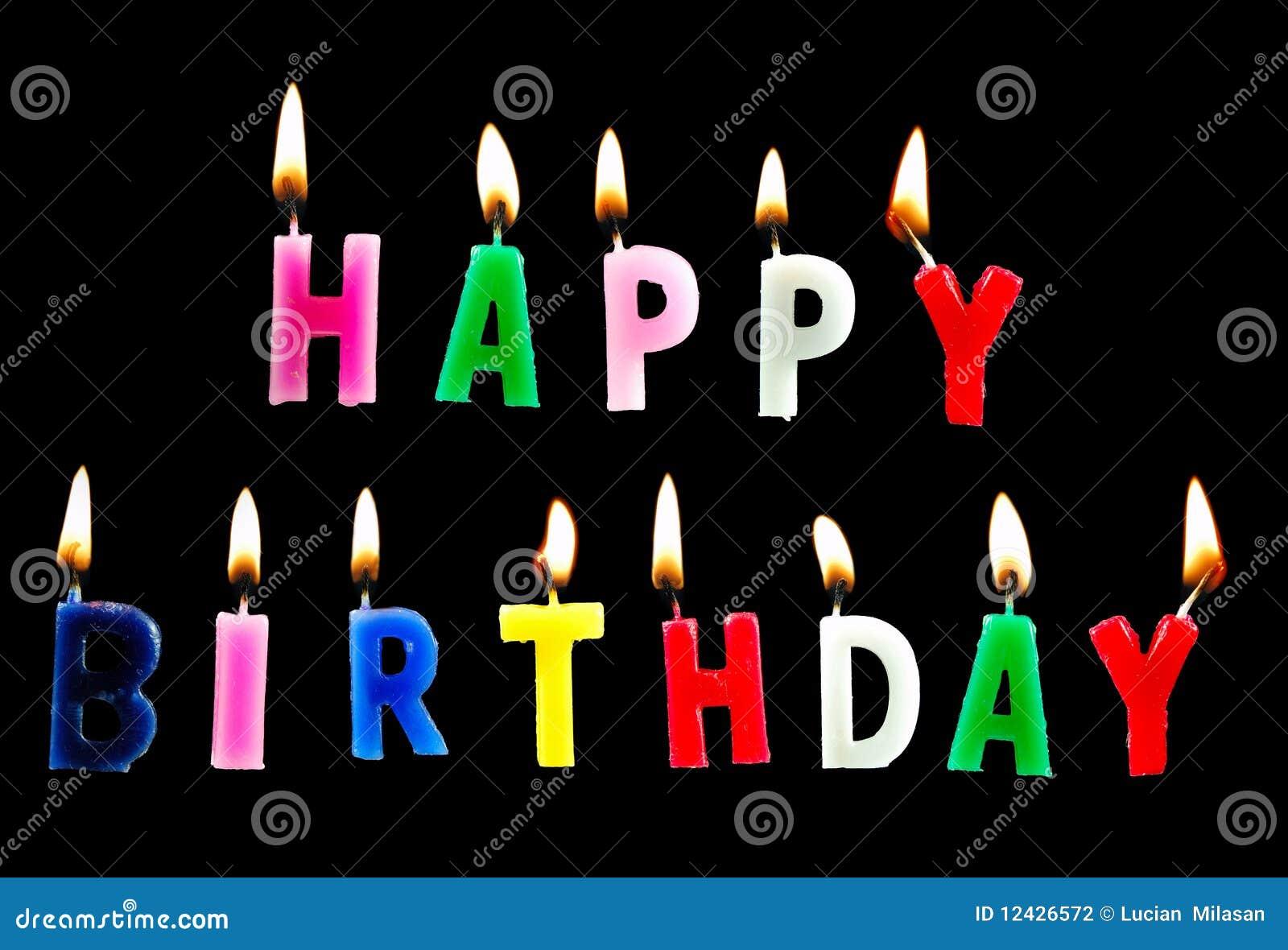 Happy Birthday Stock Photo Image Of Black Blow Candles