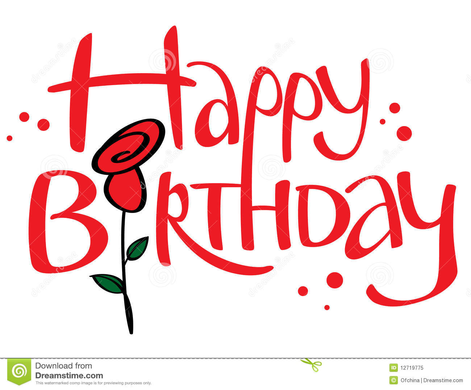 Happy Birthday Royalty Free Stock Photo - Image: 12719775