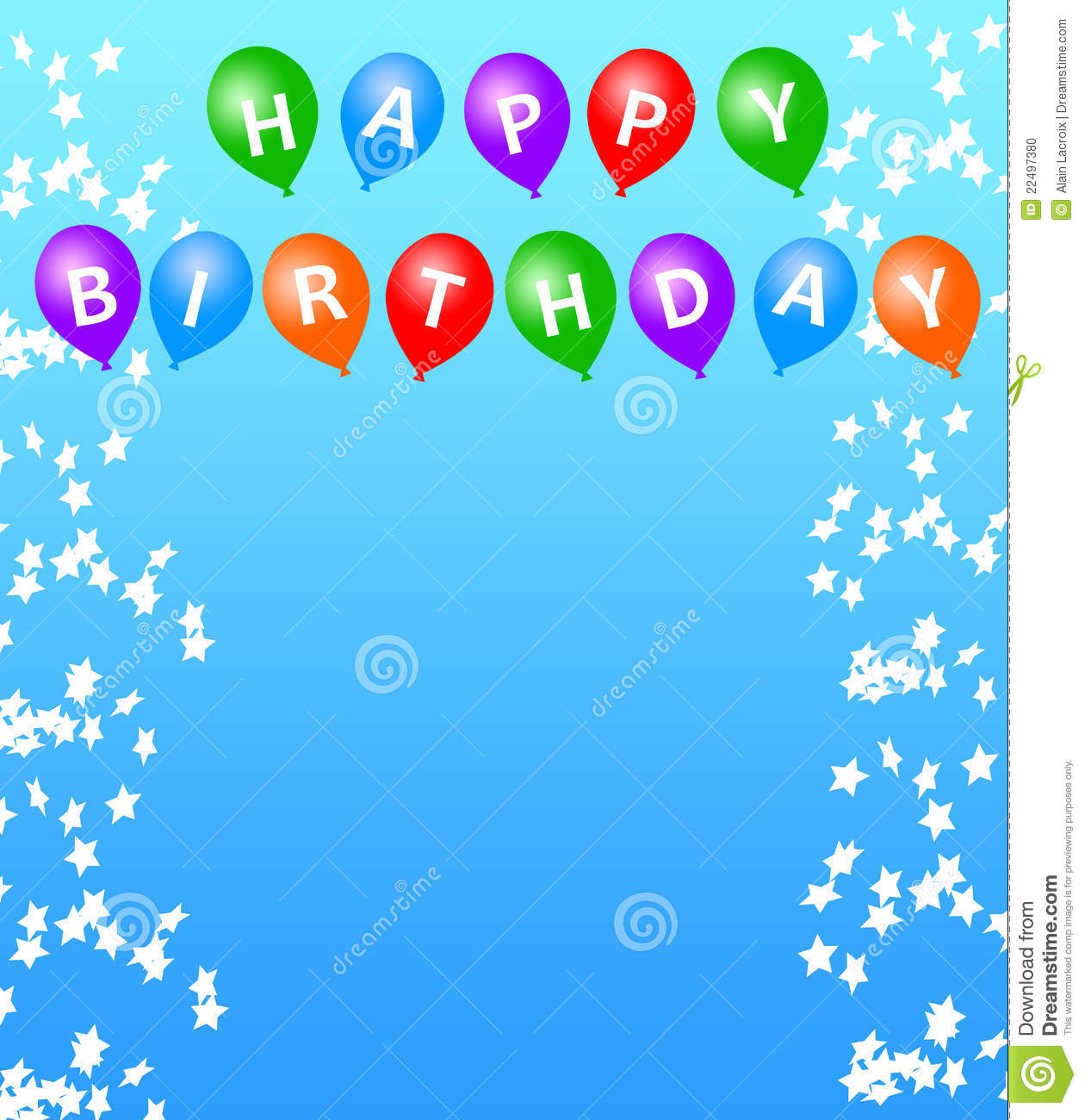 Happy birthday stock illustration. Illustration of birthday - 22497380