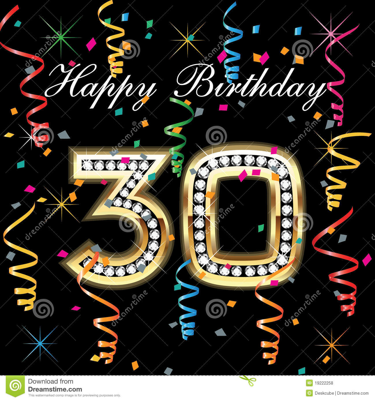 Happy Birthday 30 Royalty Free Stock Photos - Image: 19222258
