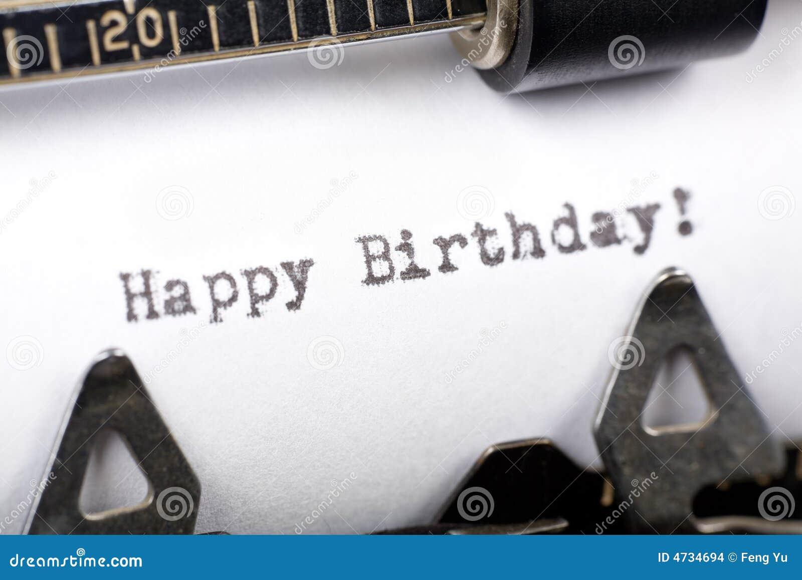 Happy Birthday Stock Photo Image Of Fashioned Words