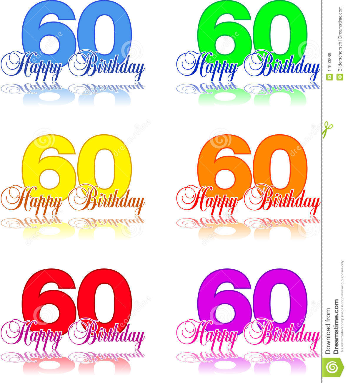 Happy Birthday 60 Stock Vector Illustration Of Event