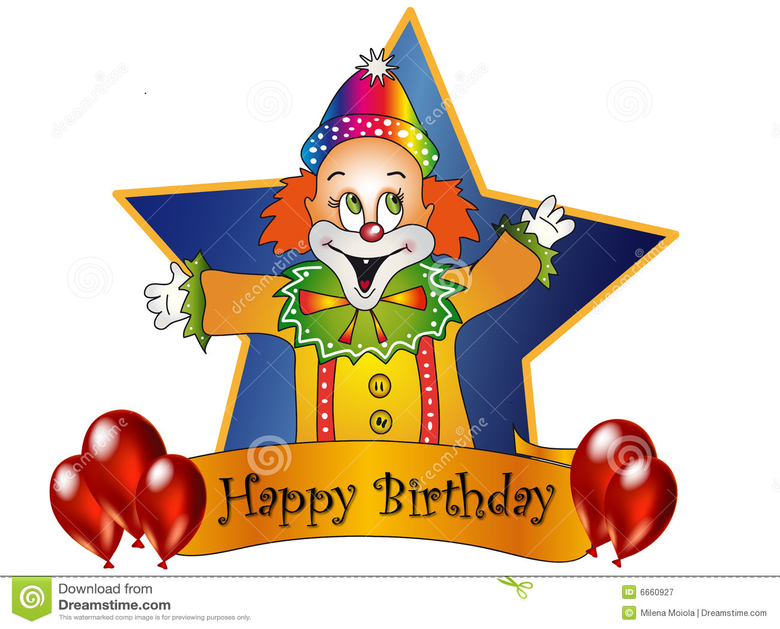 Happy Birthday Royalty Free Photography Image 6660927 – Clown Birthday Cards