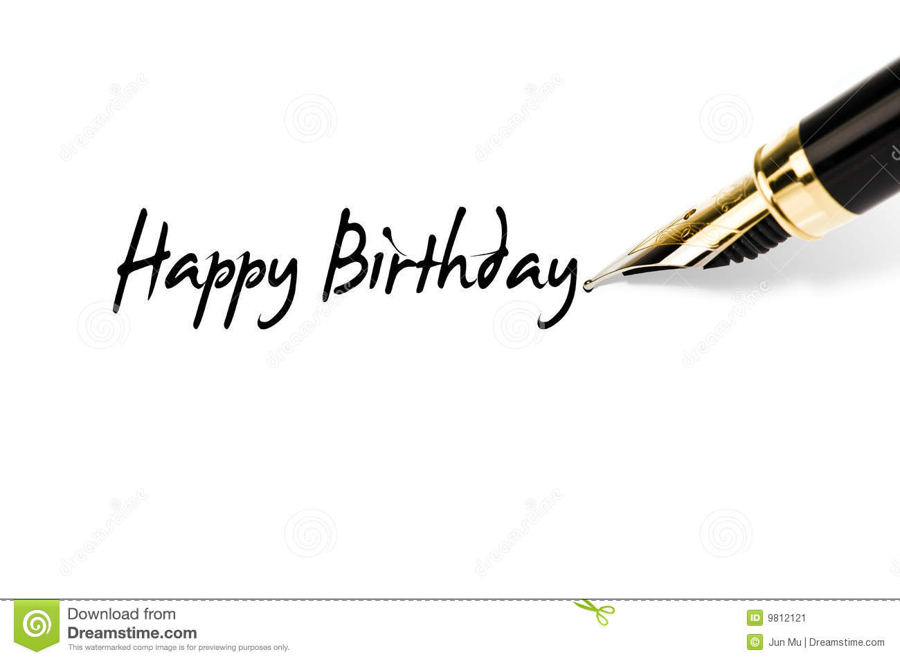 Happy Birthday Stock Image - Image: 9812121