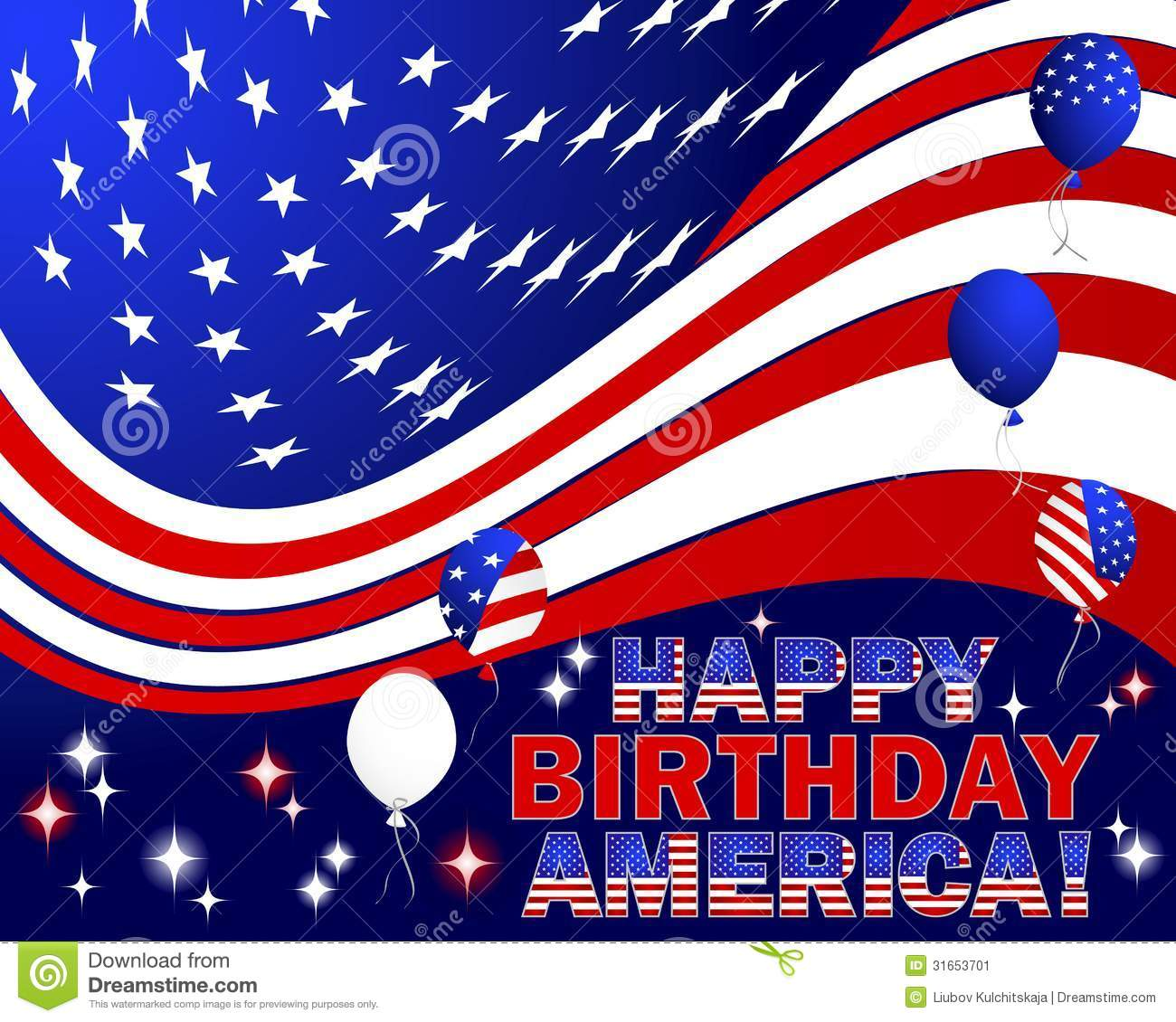 when is america birthday Happy Birthday America. stock vector. Illustration of birthday  when is america birthday