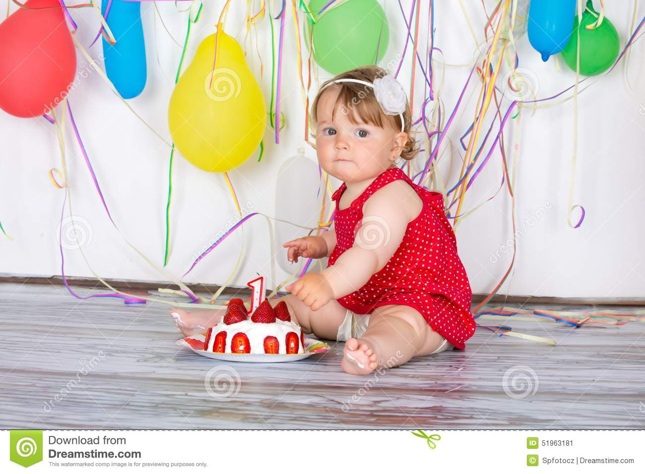Happy Birthday Baby Stock Image Image Of Activity Ball 51963181