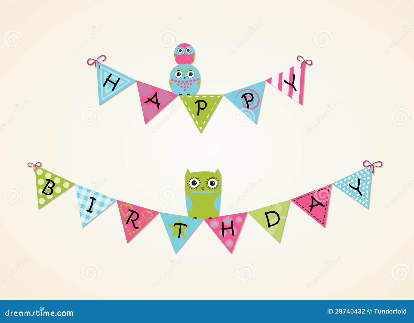 Happy Birthday Background Stock Photography - Image: 28740432