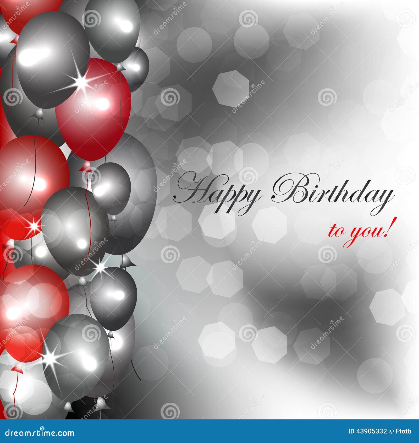 Happy Birthday Star Balloon Cartoon Vector Cartoondealer