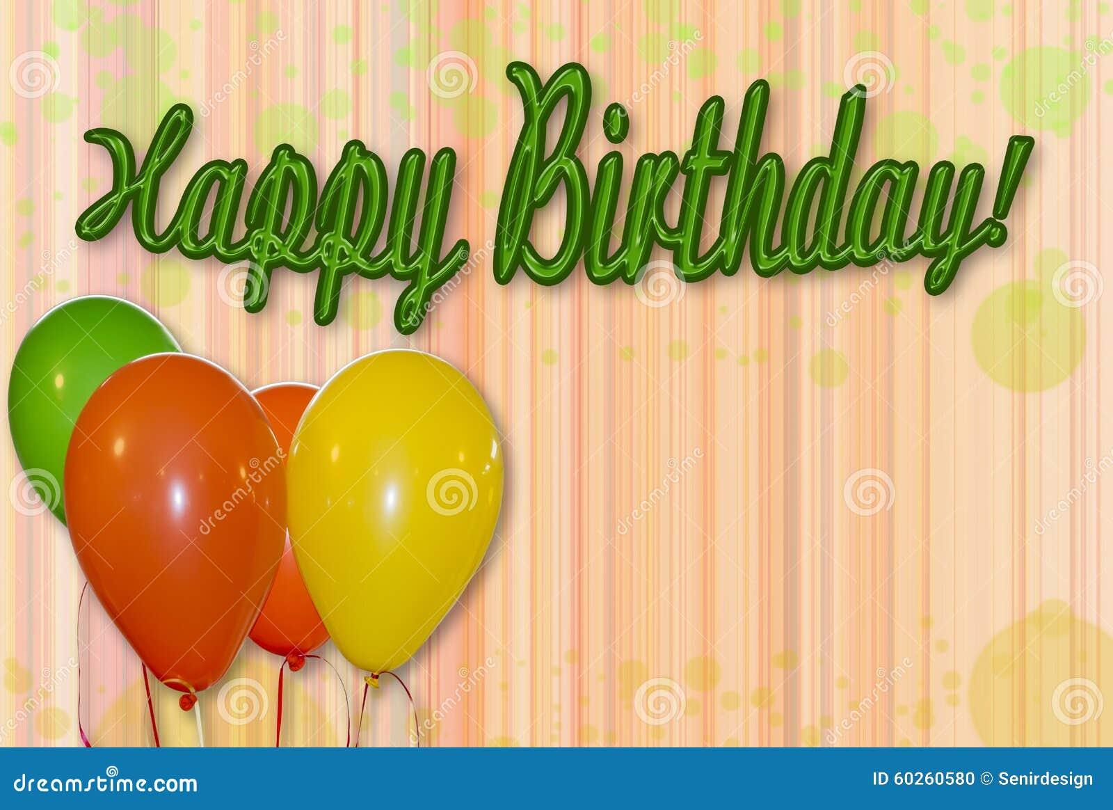 Happy Birthday Background Stock Photo Image 60260580