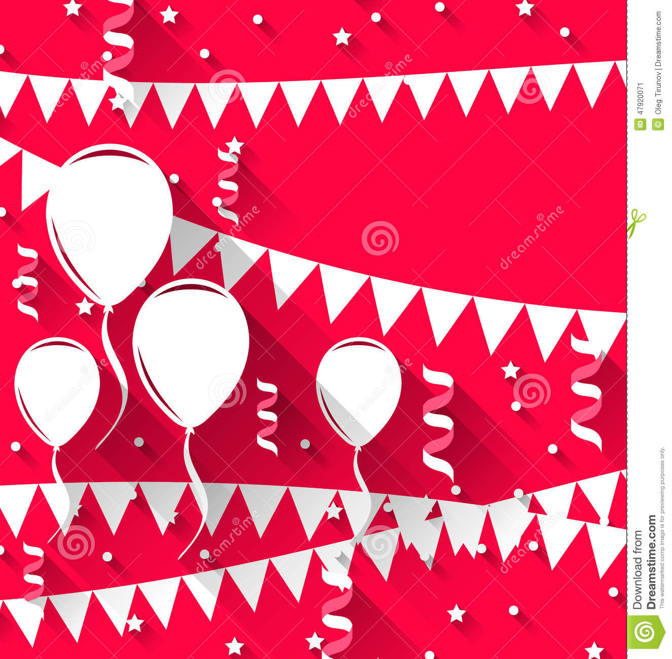 Happy Birthday Background With Balloons And Hanging ...