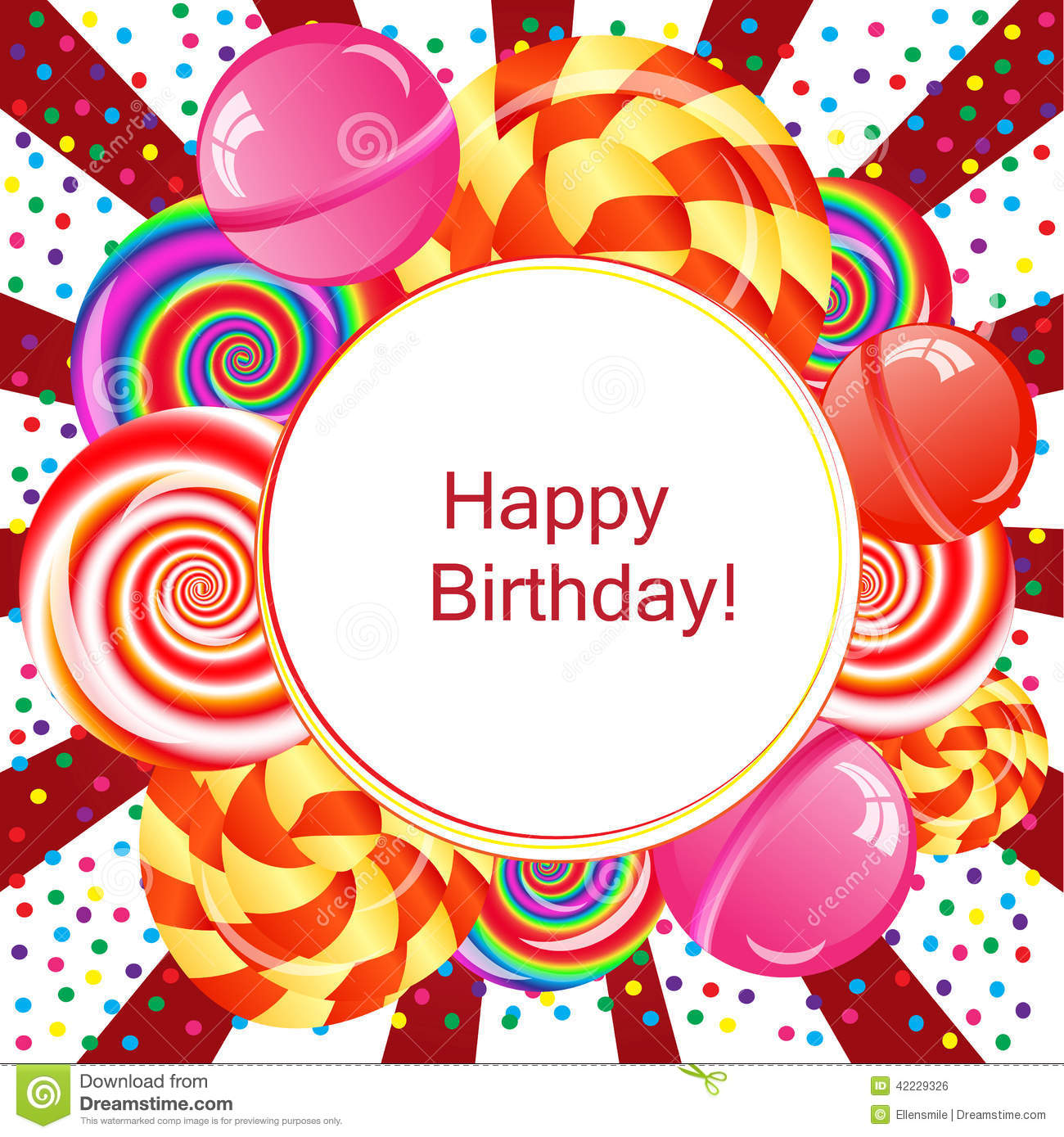 Happy Birthday Background Stock Illustration Image 42229326