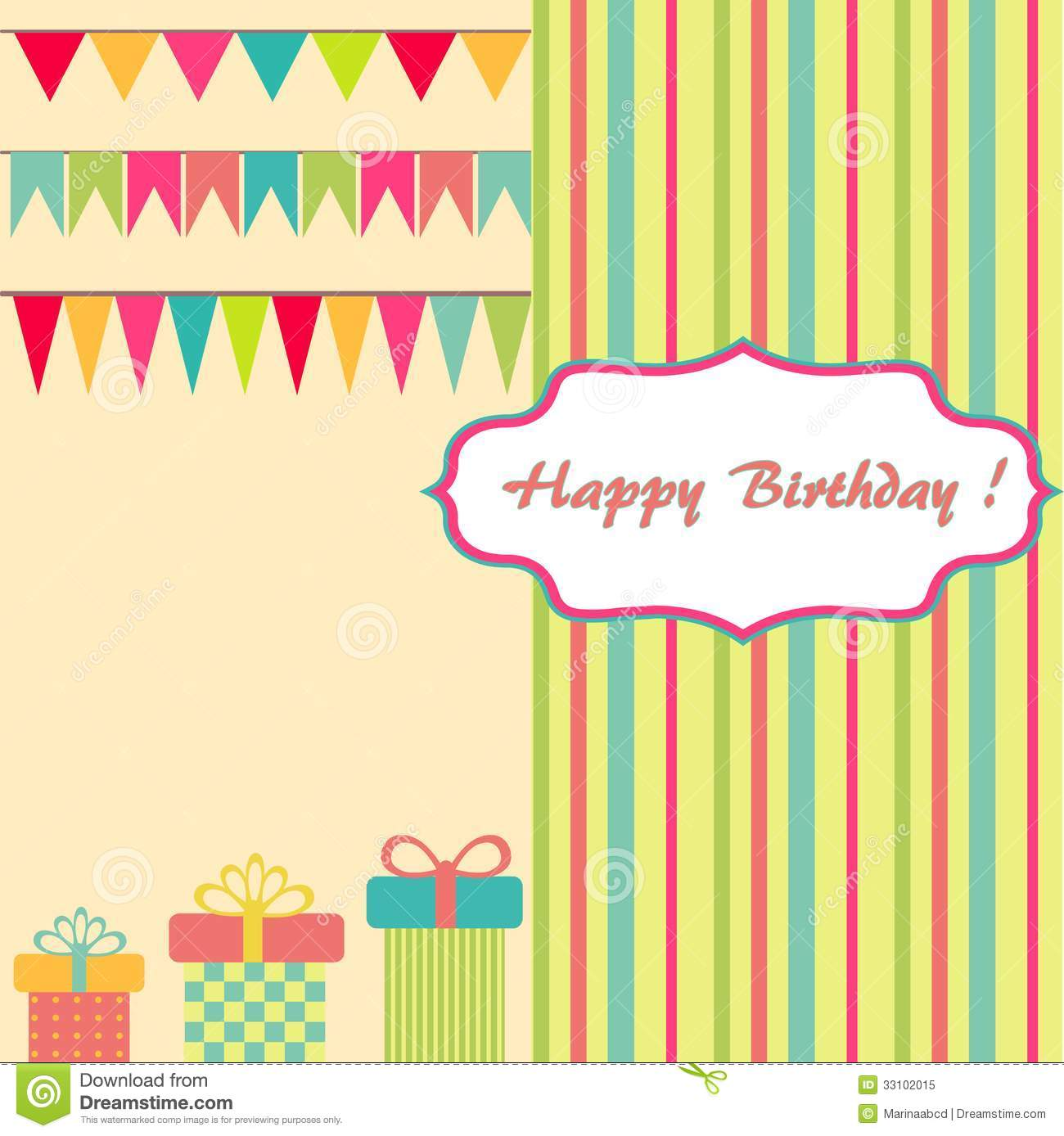 Happy birthday background stock vector illustration of ornament happy birthday background bookmarktalkfo Choice Image