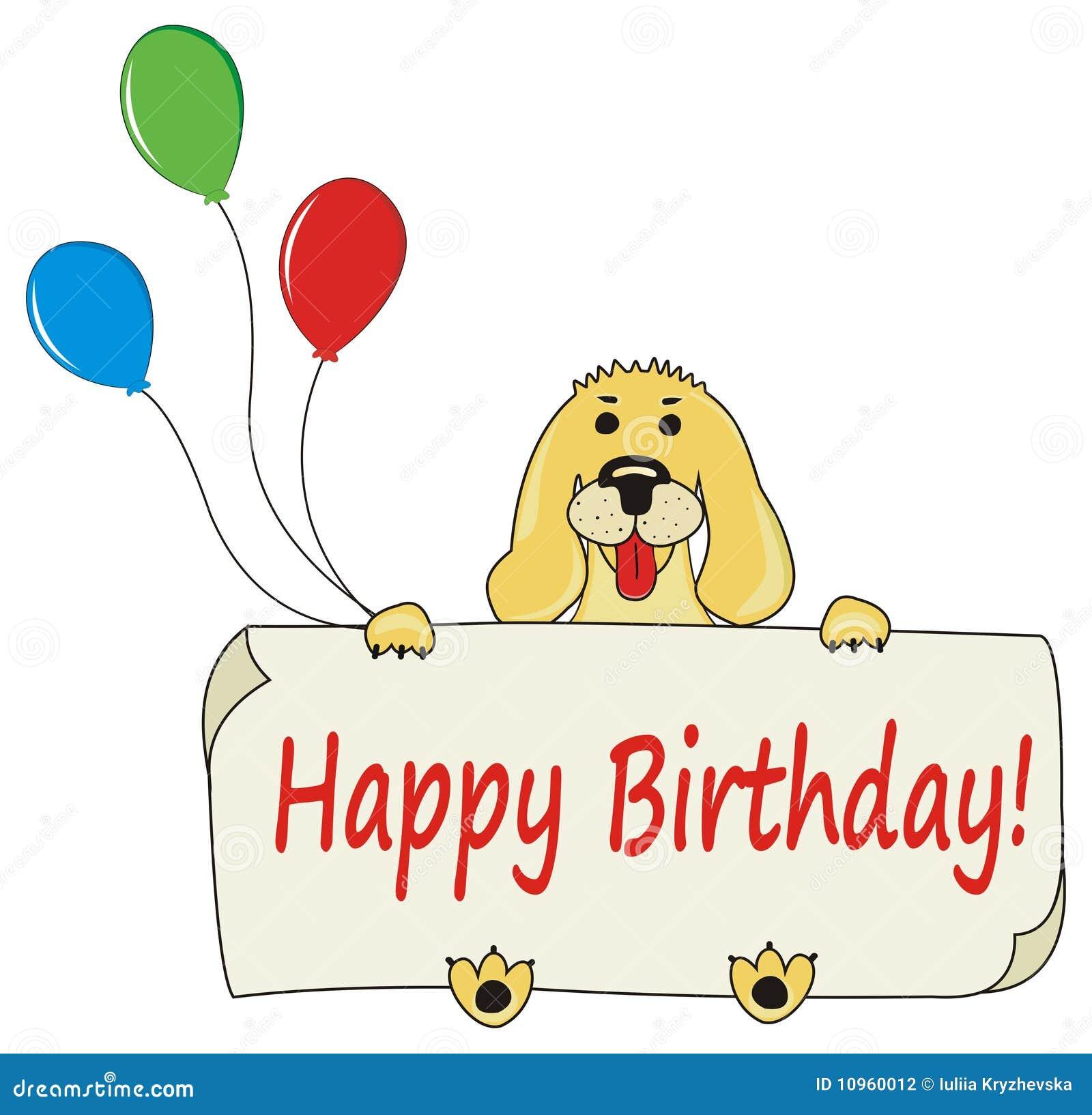 Happy Birthday Cartoon Dog Stock Illustrations 3 072 Happy Birthday Cartoon Dog Stock Illustrations Vectors Clipart Dreamstime