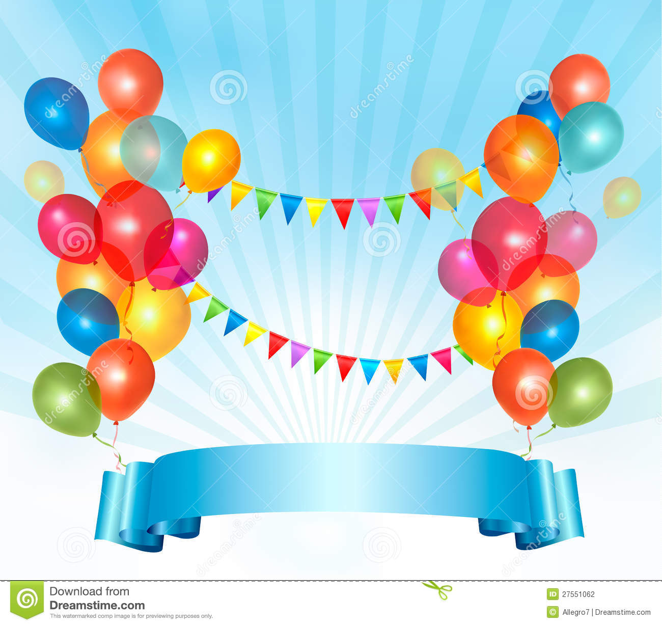 Happy Birthday Background With Colorful Balloons Stock Photography