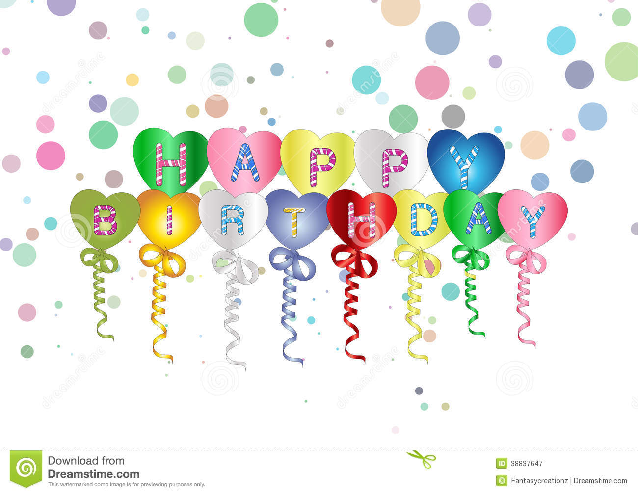 balloons streamers birthday party celebration stock illustrations