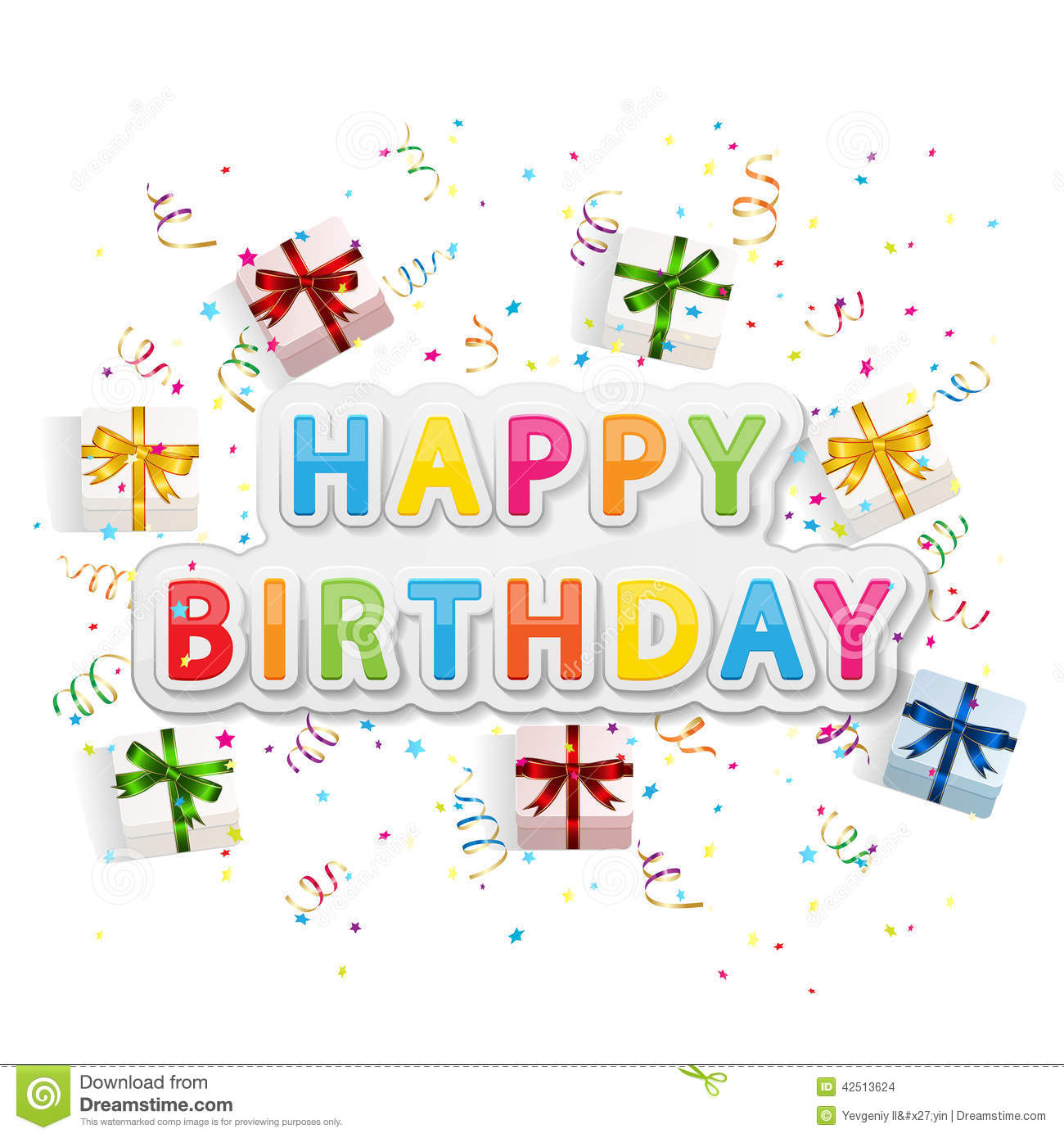 happy birthday background with gift boxes stock vector
