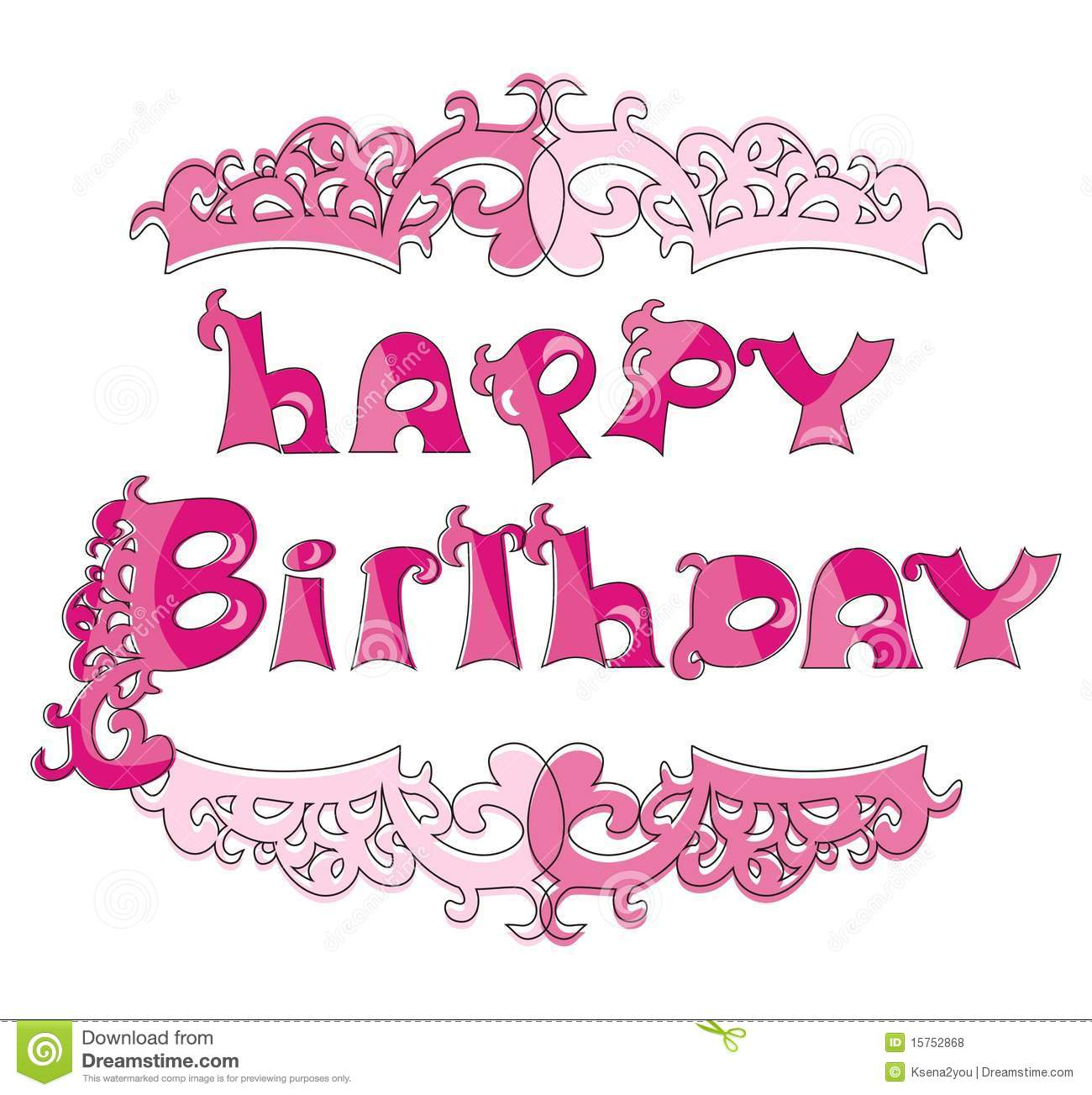 Happy Birthday Background For Little Princess Stock Vector