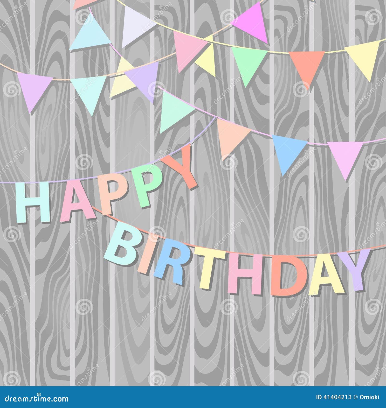 Happy Birthday Background Stock Vector - Image: 41404213
