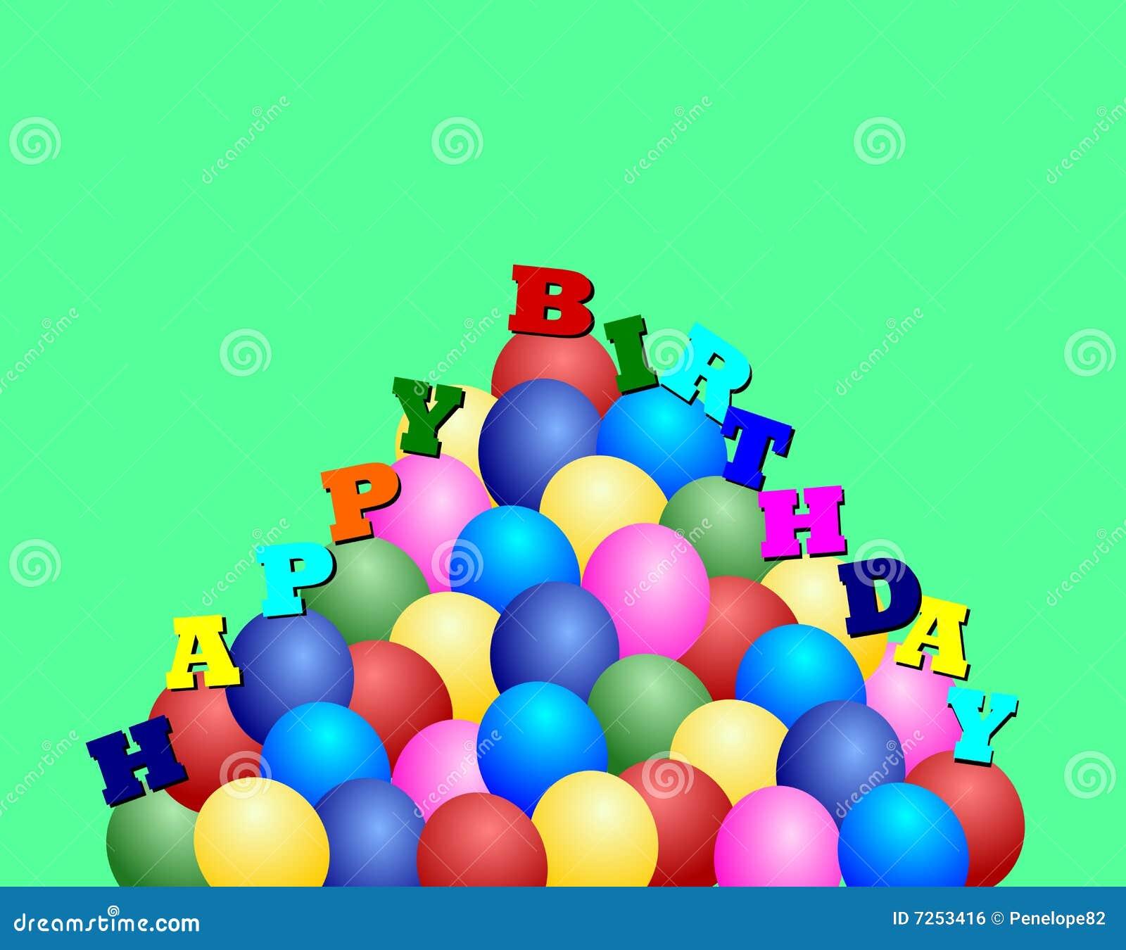 Happy Birthday Ballons Royalty Free Stock Image - Image: 7253416