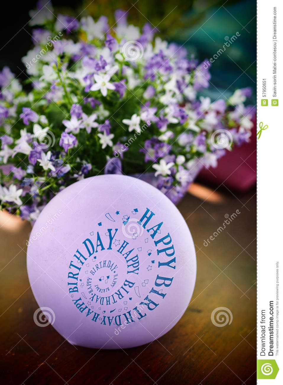 Happy Birthday Balloon Stock Image Image Of Anniversary 57950651