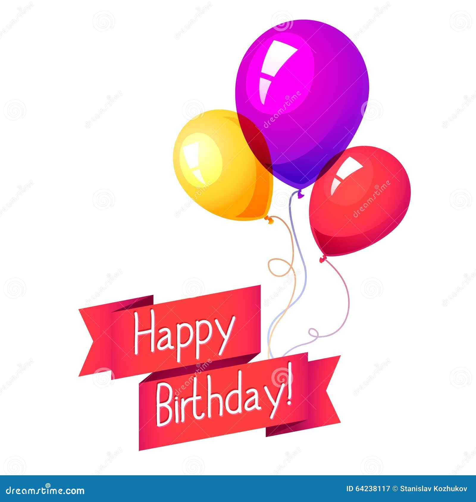 Happy Birthday Balloon Graphics Stock Illustration Image