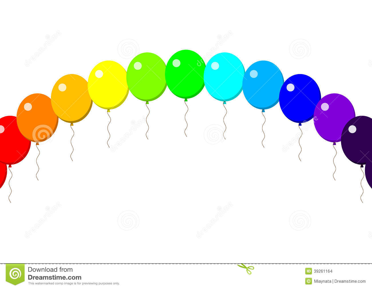Happy Birthday Balloon Rainbow Stock Vector - Image: 39261164