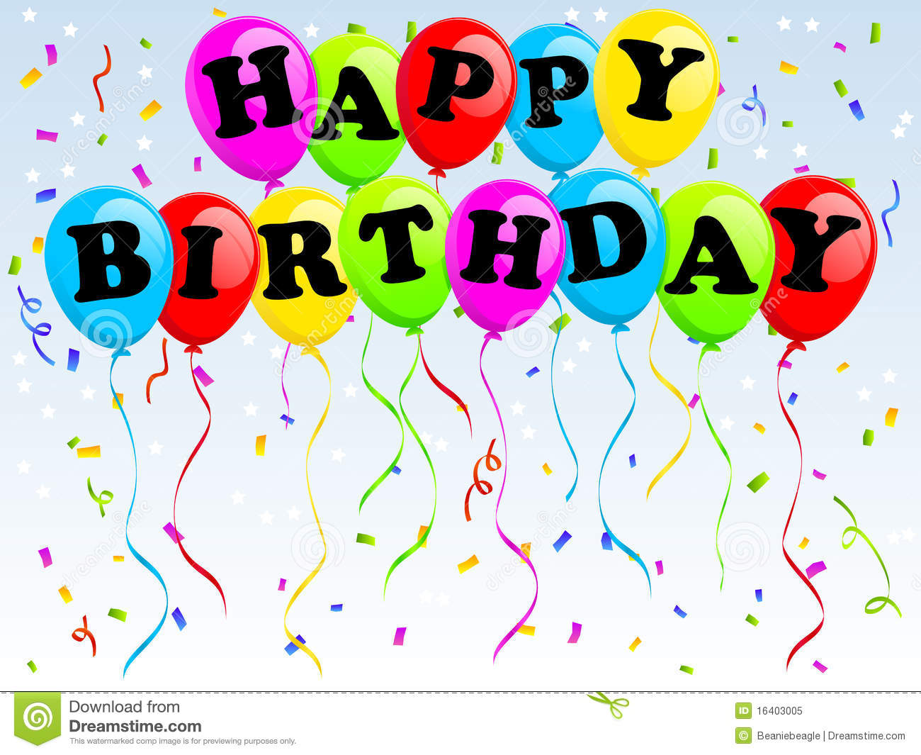 Happy Birthday Balloons Royalty Free Stock Photo - Image: 16403005