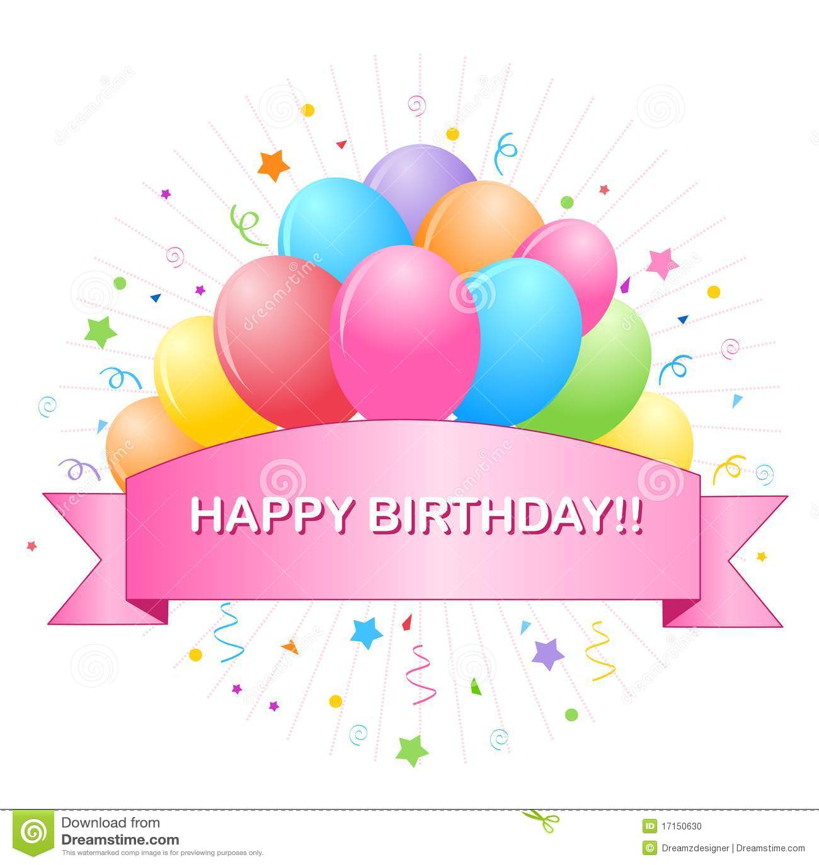 Happy Birthday Balloons Stock Vector Illustration Of Illustrations