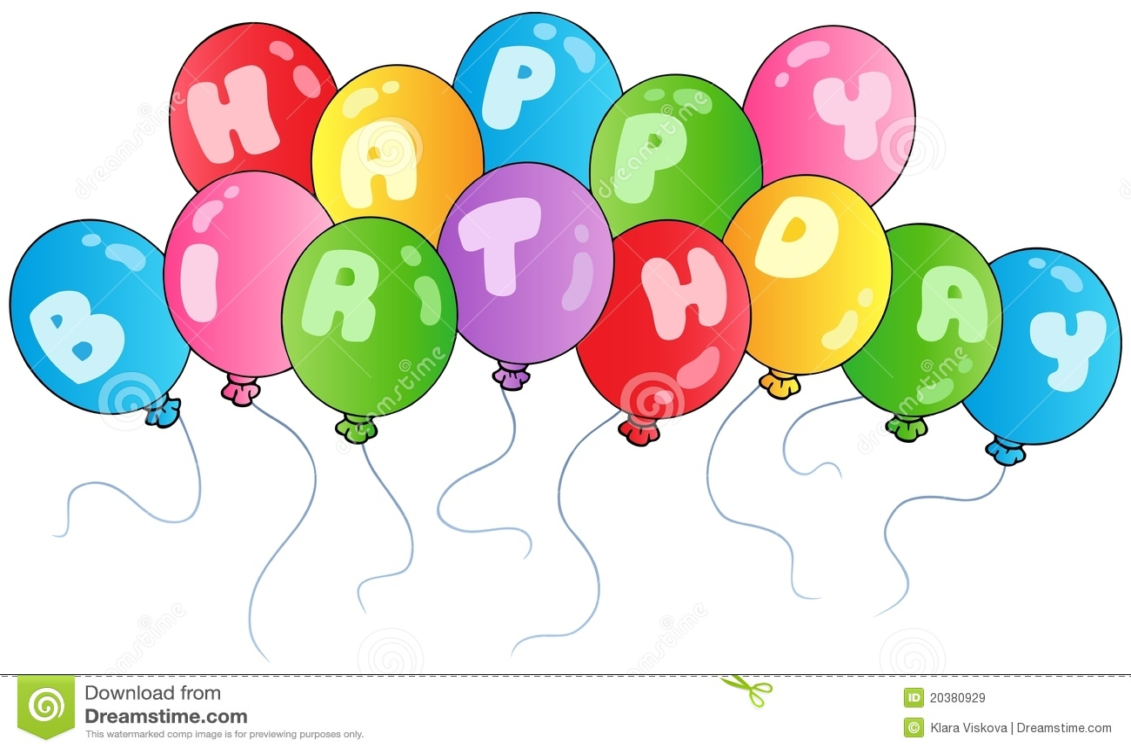 Happy birthday balloons stock vector illustration of - Globos de cumpleanos ...
