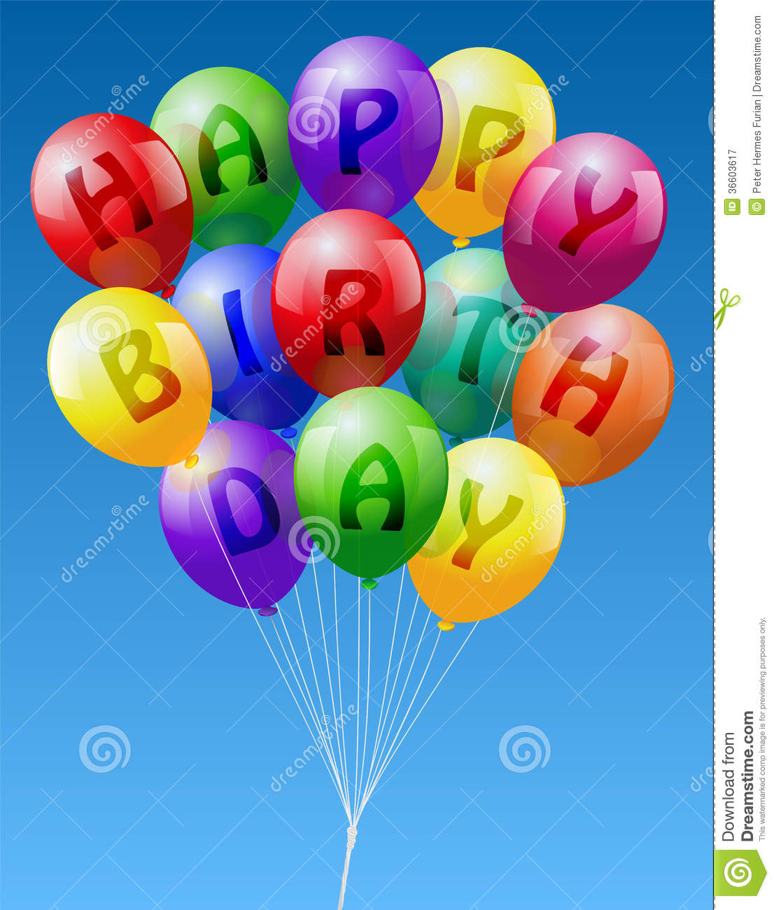 Happy Birthday Balloons Stock Illustration Of Decor