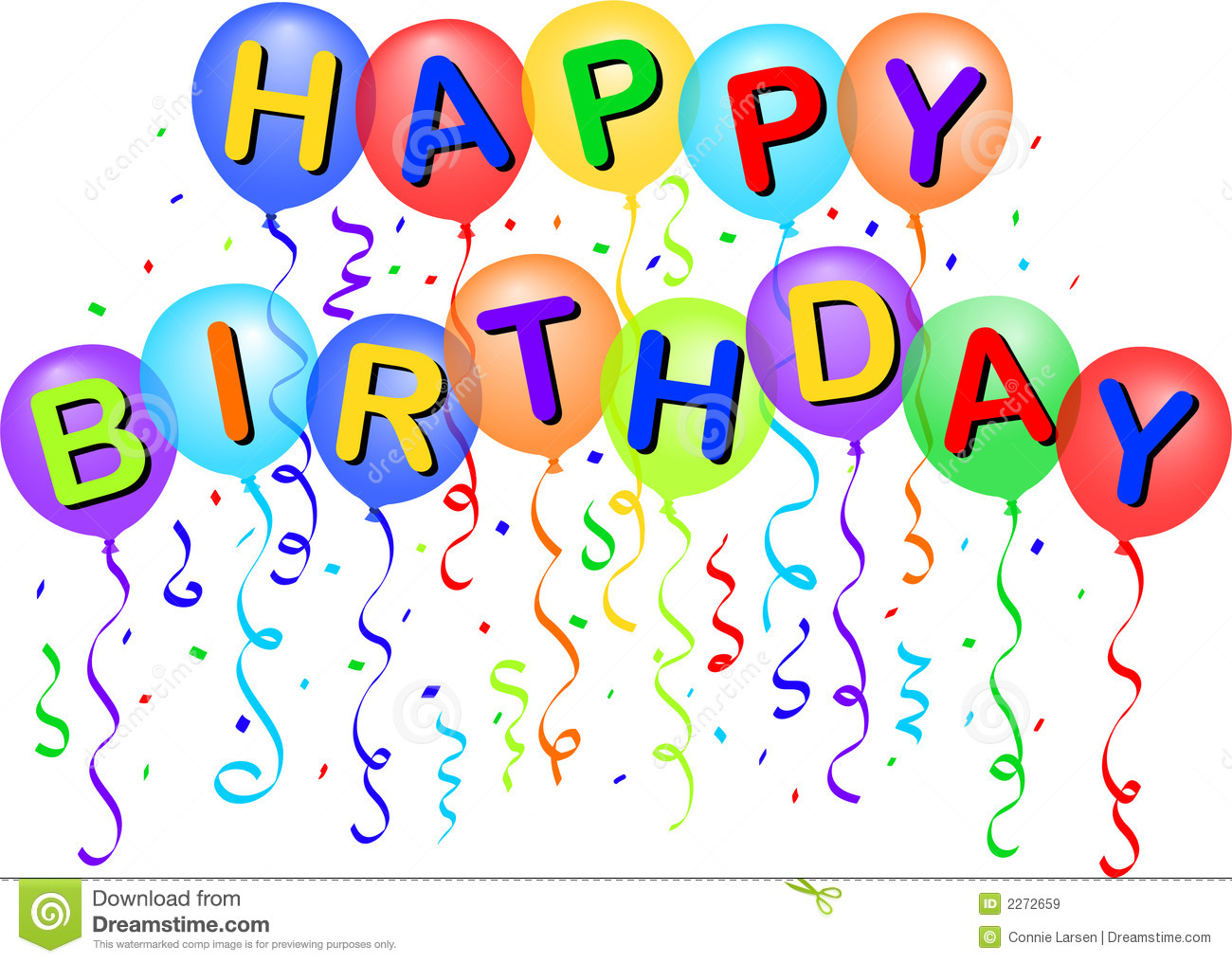 Happy Birthday Balloons/eps Royalty Free Stock Images - Image: 2272659