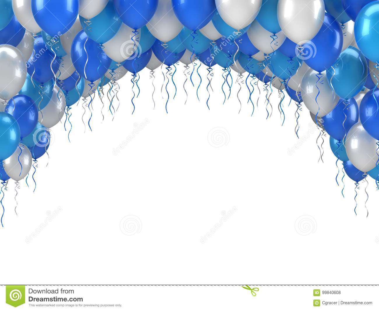 Happy Birthday Balloons Stock Illustration Of Blue
